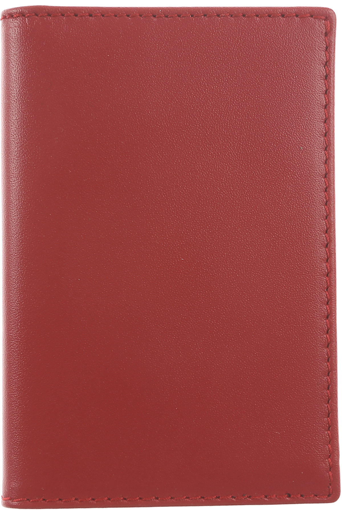 Comme des Garcons Card Holder for Men On Sale, Red Wine, Leather, 2019, one size One size