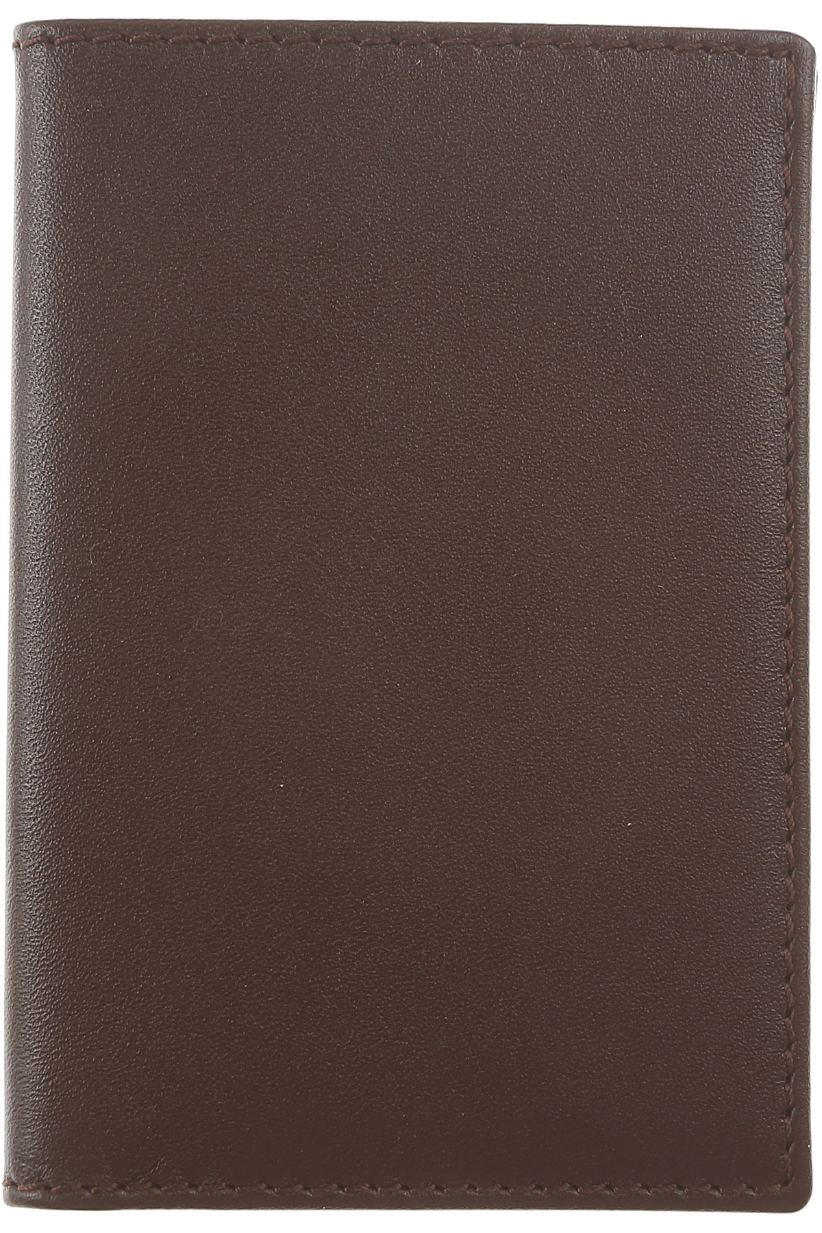 Image of Comme des Garcons Card Holder for Men, Brown coffee, Leather, 2017