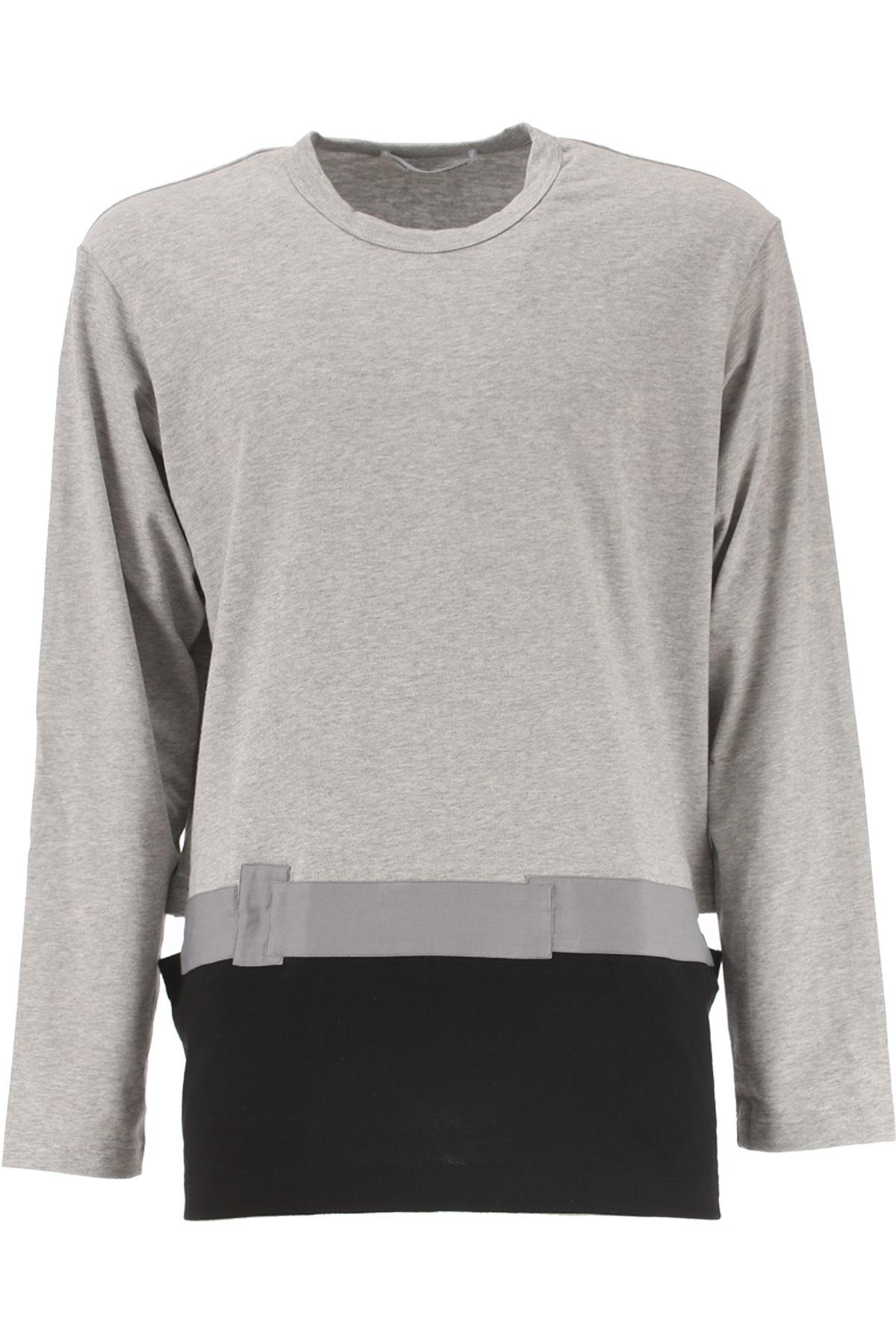 Comme des Garcons T-Shirt for Men On Sale, Grey, Cotton, 2017, M S USA-372955