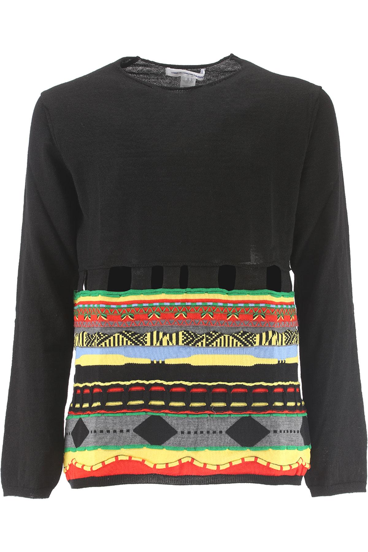 Comme des Garcons Sweater for Men Jumper On Sale, Black, Wool, 2017, L M S USA-372992