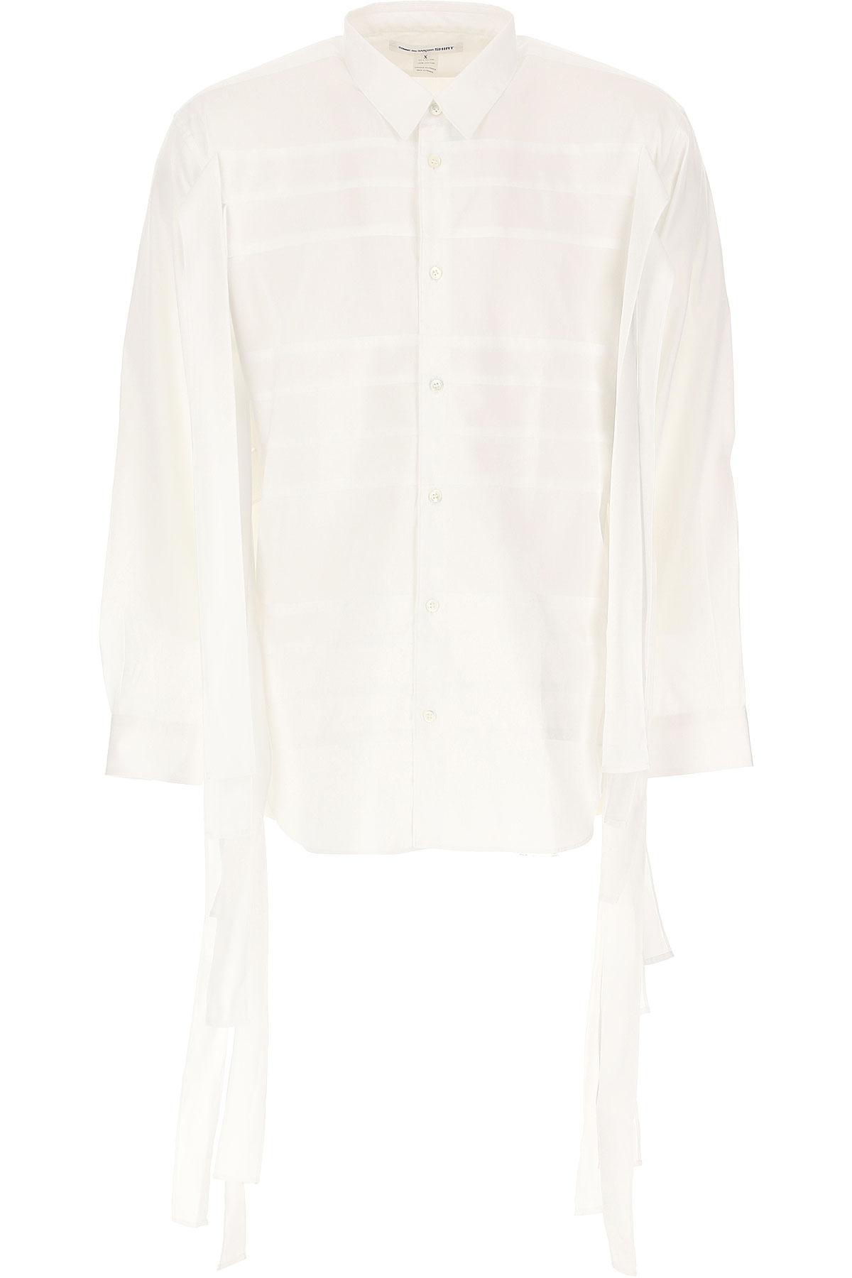 Comme des Garcons Shirt for Men On Sale, White, Cotton, 2019, S • IT 46 M • IT 48 L • IT 50 XL • IT 52