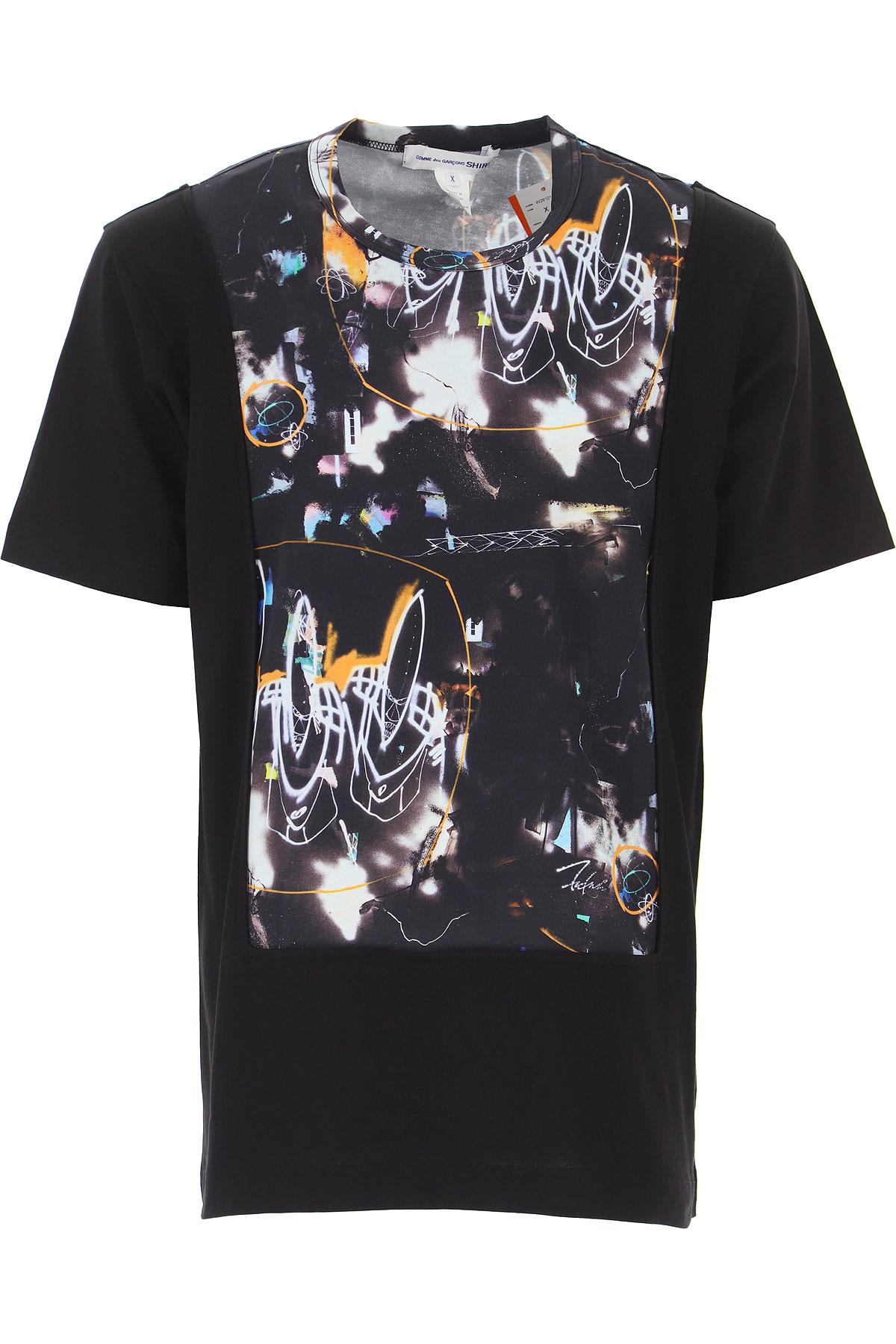 Comme des Garcons T-Shirt for Men On Sale, Black, Cotton, 2019, L S