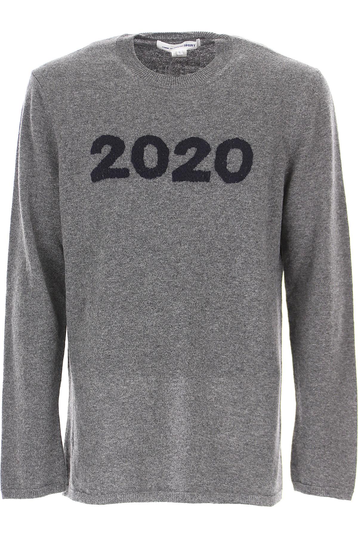 Comme des Garcons Sweater for Men Jumper On Sale, Grey Melange, Wool, 2019, L M S XL