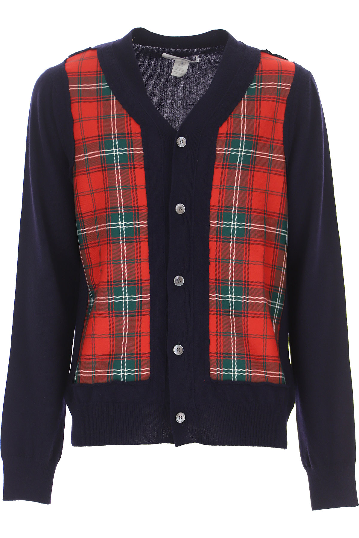 Comme des Garcons T-Shirt for Men On Sale, Midnight Blue, Wool, 2019, L M XL