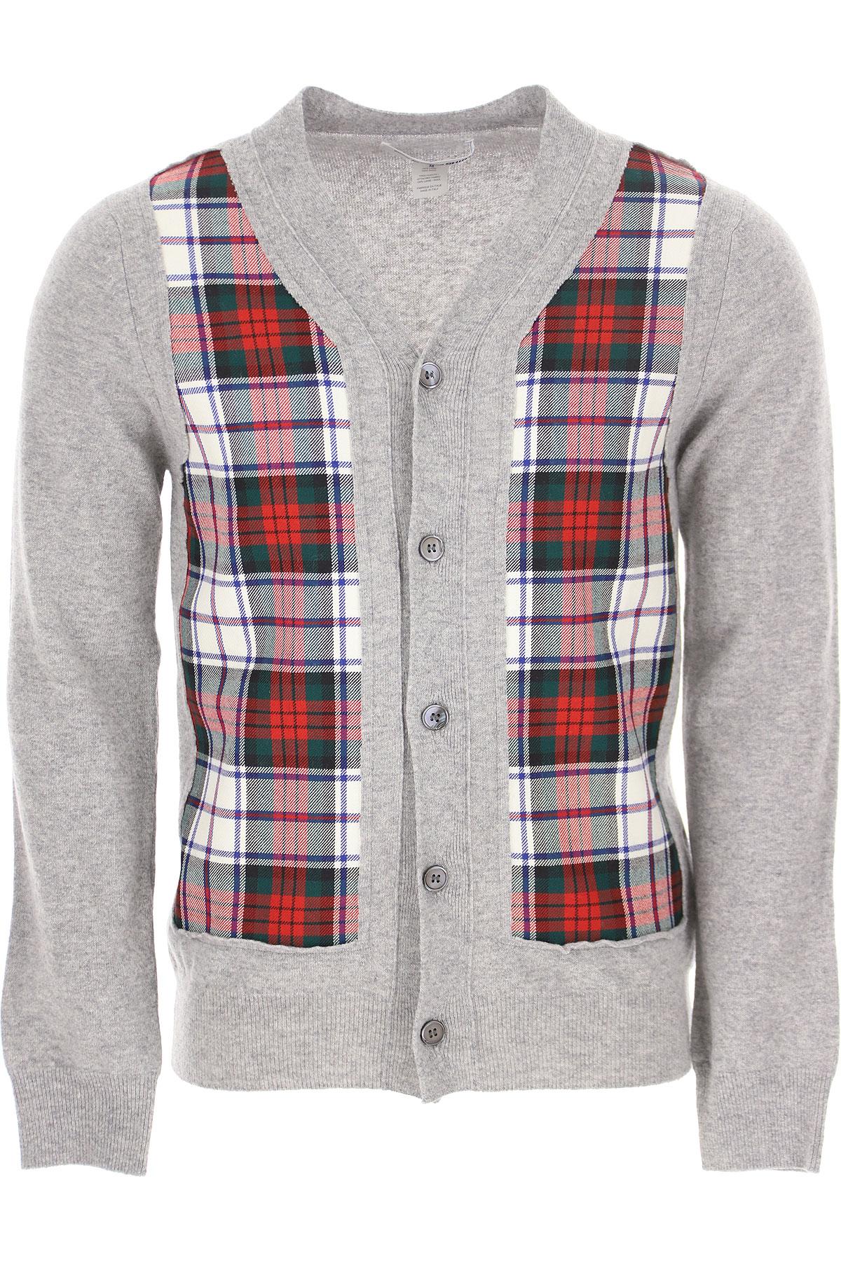 Comme des Garcons Sweater for Men Jumper On Sale, Grey, Wool, 2019, L M