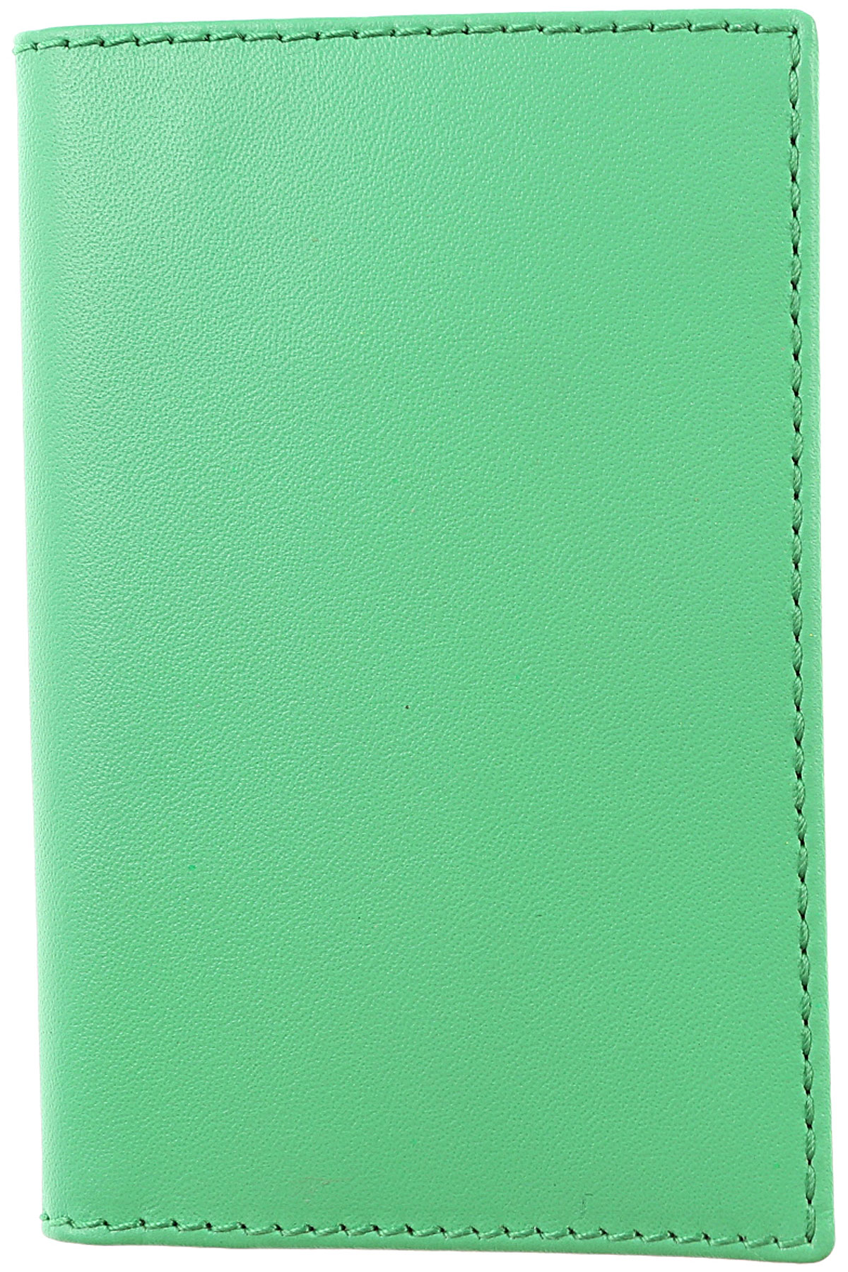 Image of Comme des Garcons Card Holder for Women On Sale, Green, Leather, 2017