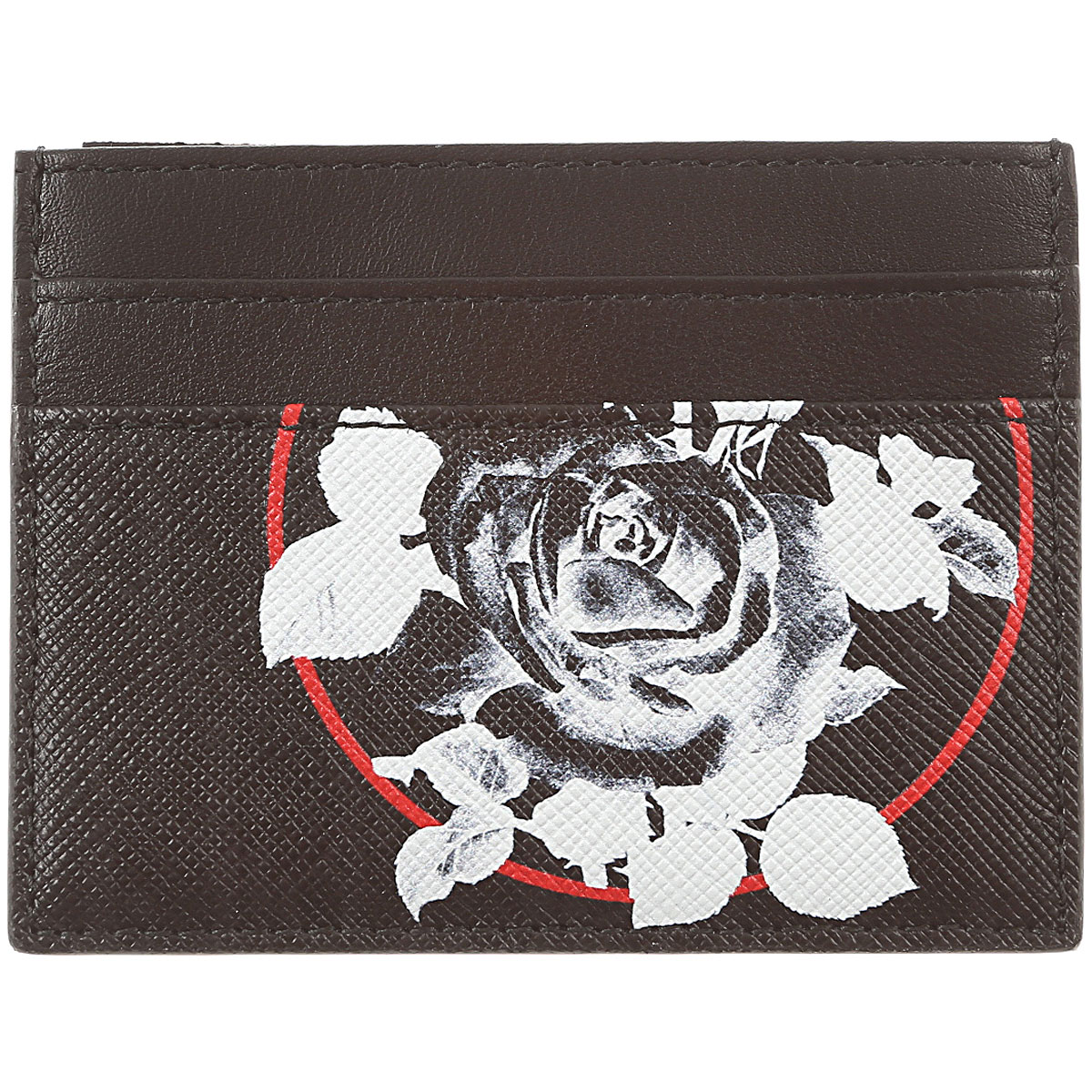 Image of Christian Dior Card Holder for Men On Sale, Black, Leather, 2017