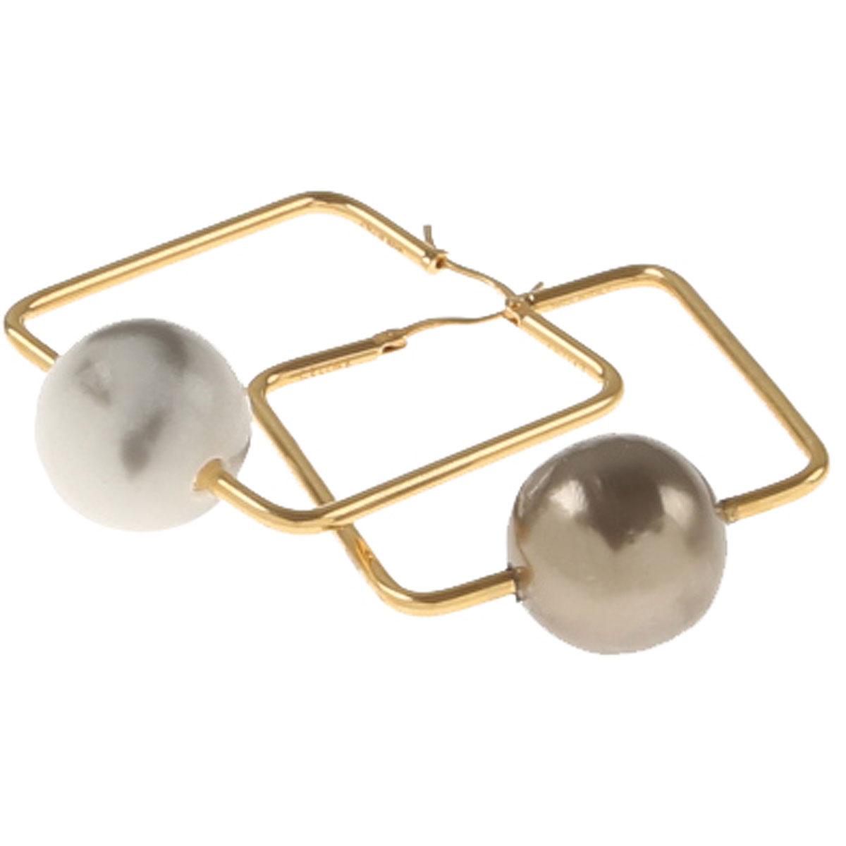 Image of Celine Earrings for Women, Yellow Gold, Brass, 2017