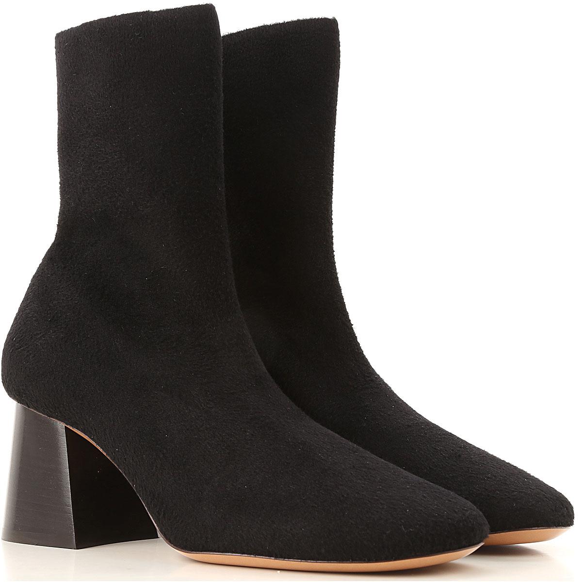 Image of Celine Boots for Women, Booties, Black, Fabric, 2017, 10 7 9