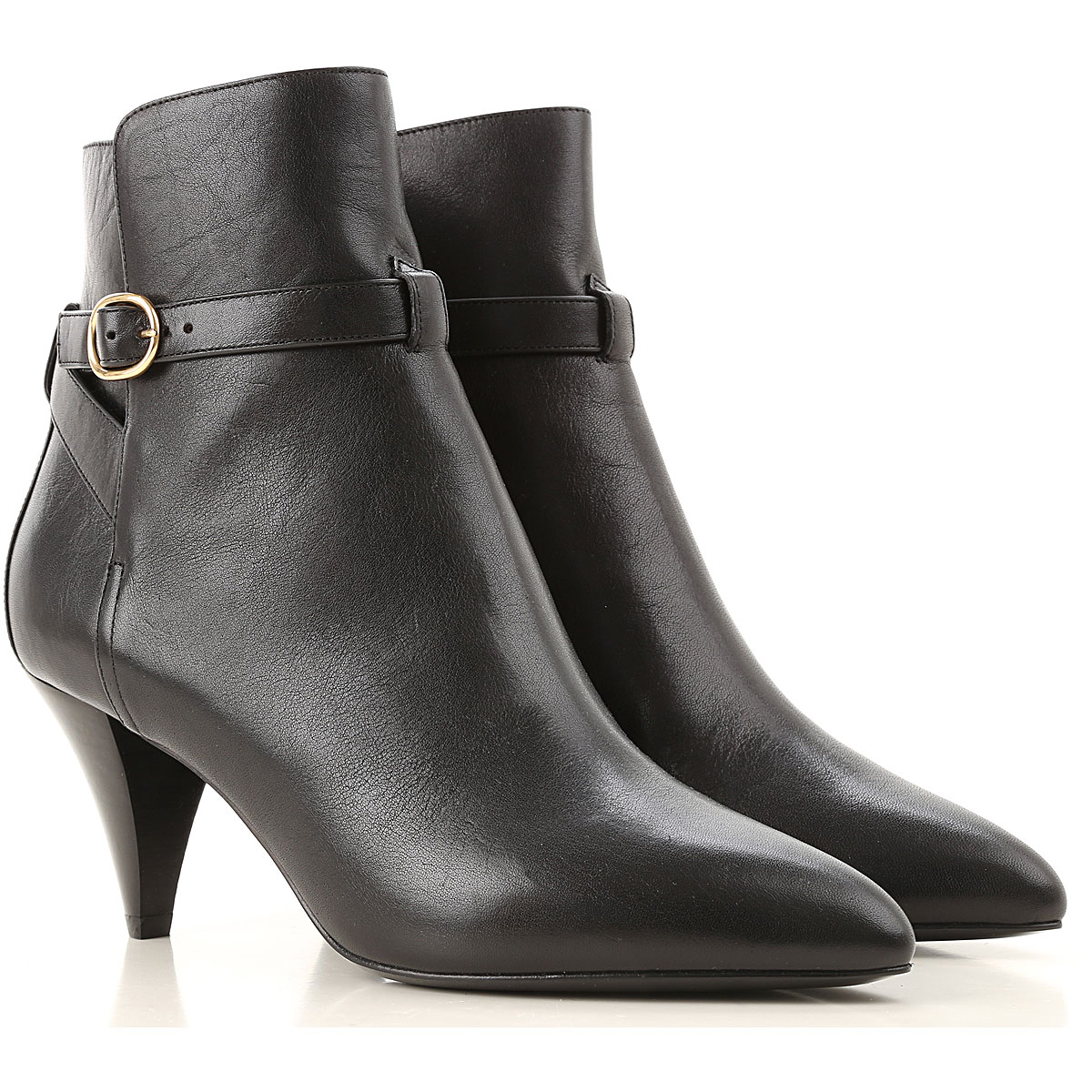 Celine Boots for Women, Booties On Sale, Black, Leather, 2019, 11 5.5 6.5 7 8 9 9.5