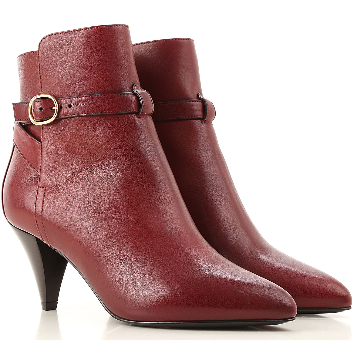 Celine Boots for Women, Booties On Sale, Burgundy, Leather, 2019, 5 5.5 6 6.5 7 8 9