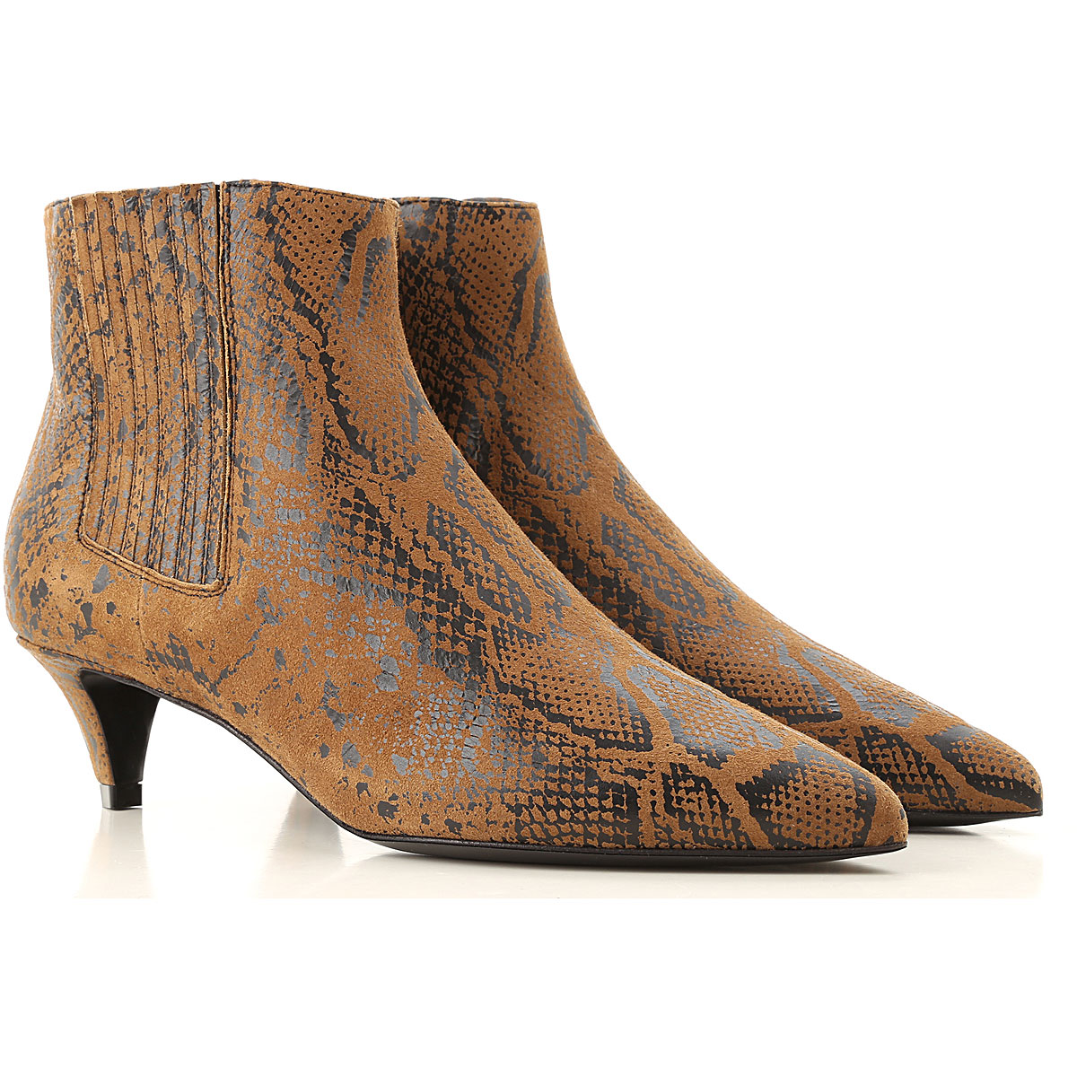 Celine Boots for Women, Booties On Sale, Caramel, Leather, 2019, 6 6.5 7 8
