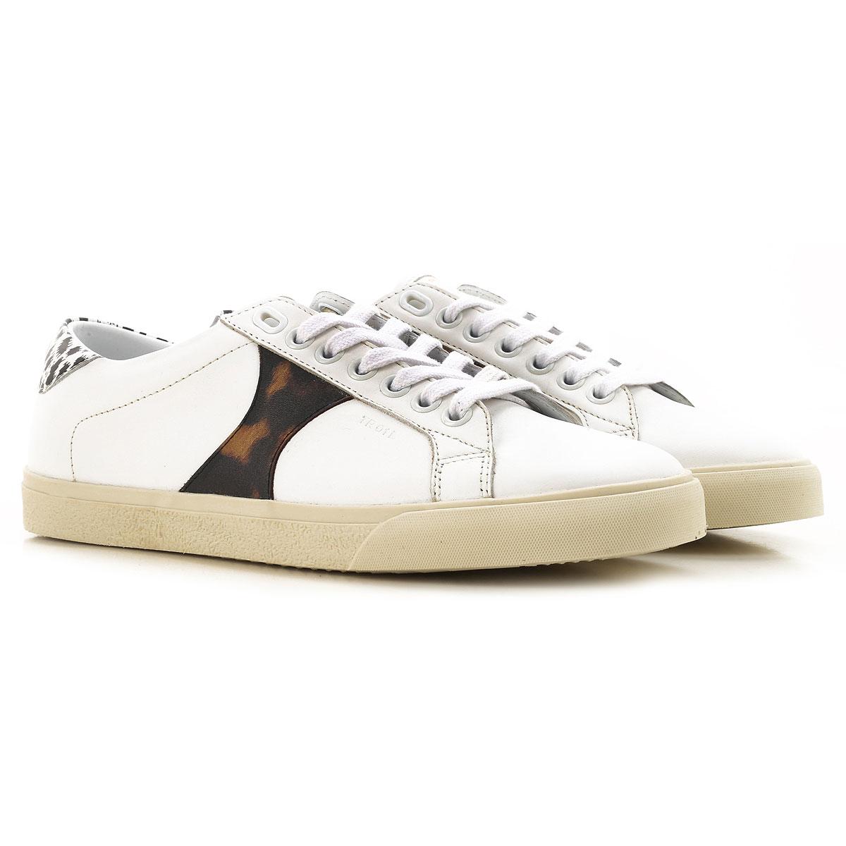 Celine Sneaker Femme Pas cher en Soldes Outlet, Blanc, Cuir, 2019, 38 39 40