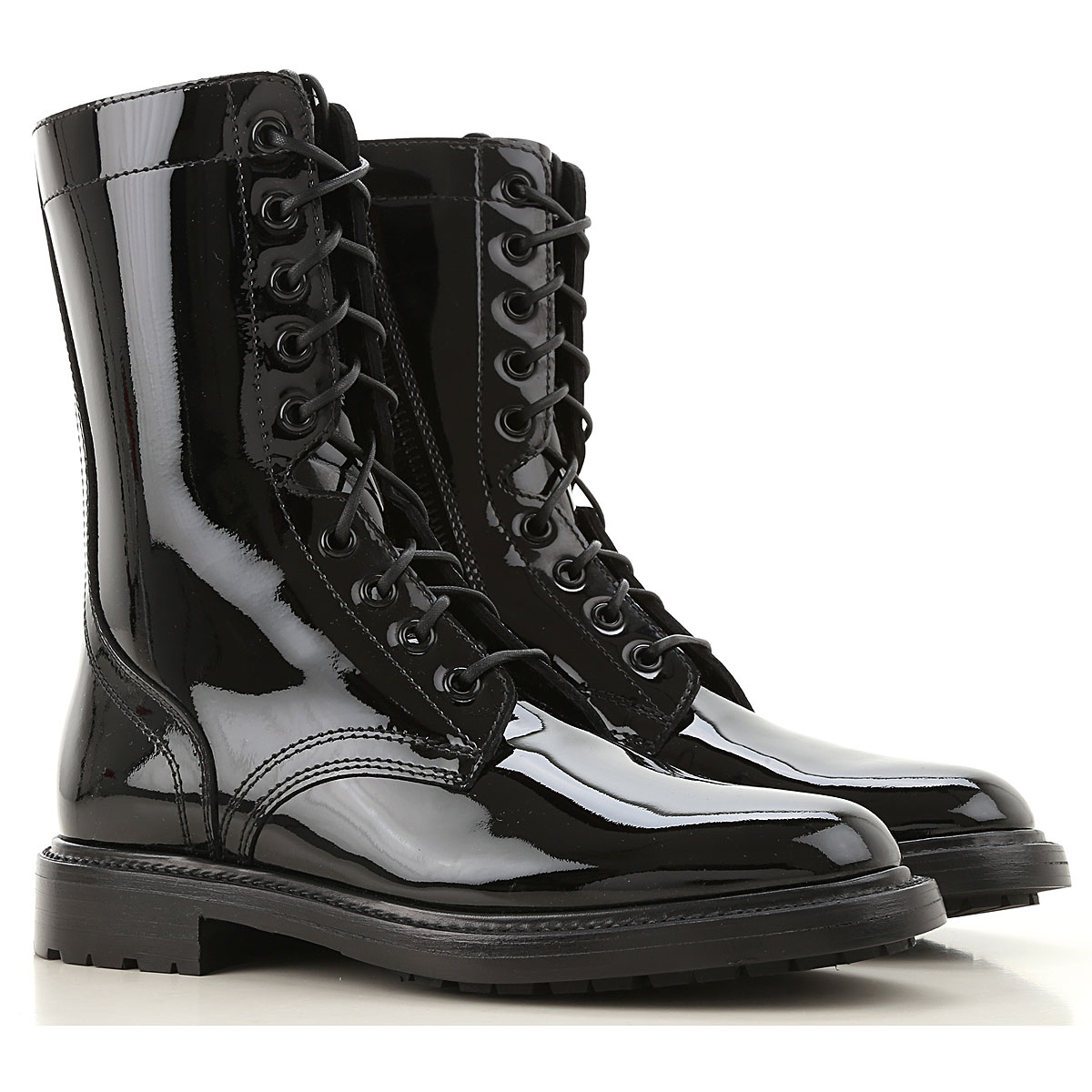 Celine Boots for Women, Booties On Sale, Black, Patent Leather, 2019, 5.5 6 6.5 7 8 9
