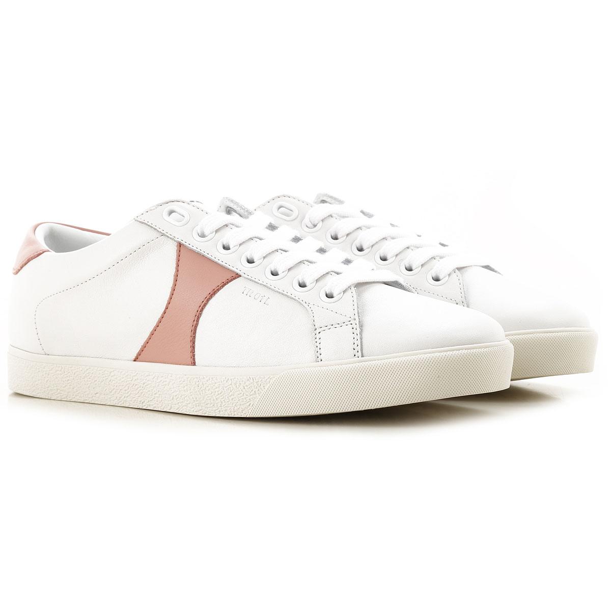 Celine Sneaker Femme Pas cher en Soldes, Blanc cassé, Cuir, 2019, 36 39 40 41
