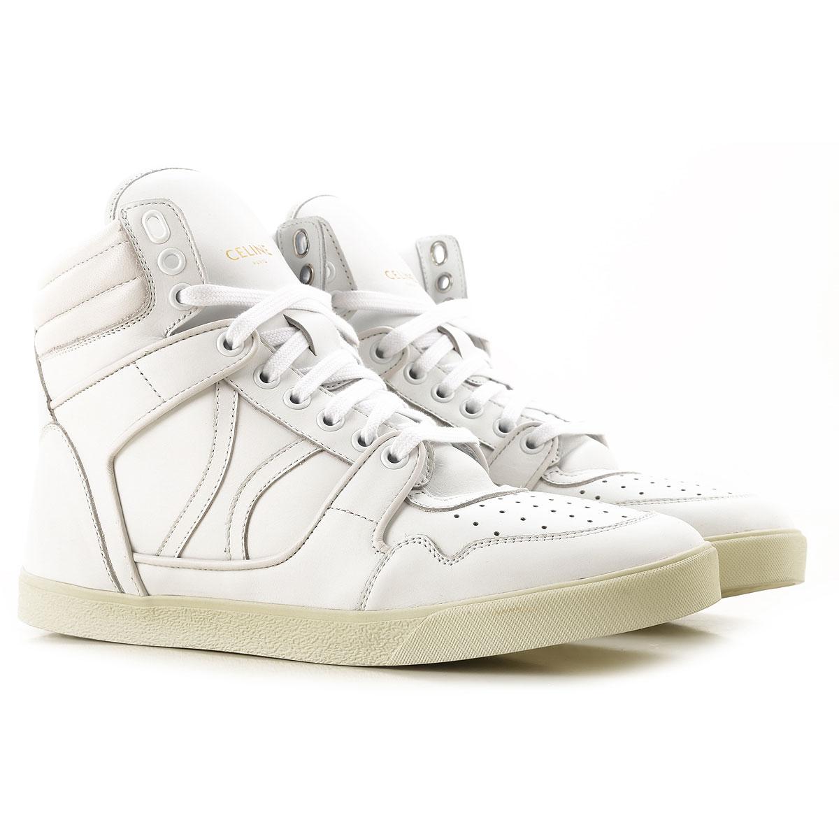Celine Sneaker Homme Pas cher en Soldes, Blanc, Cuir, 2019, 39.5 41 42 44.5