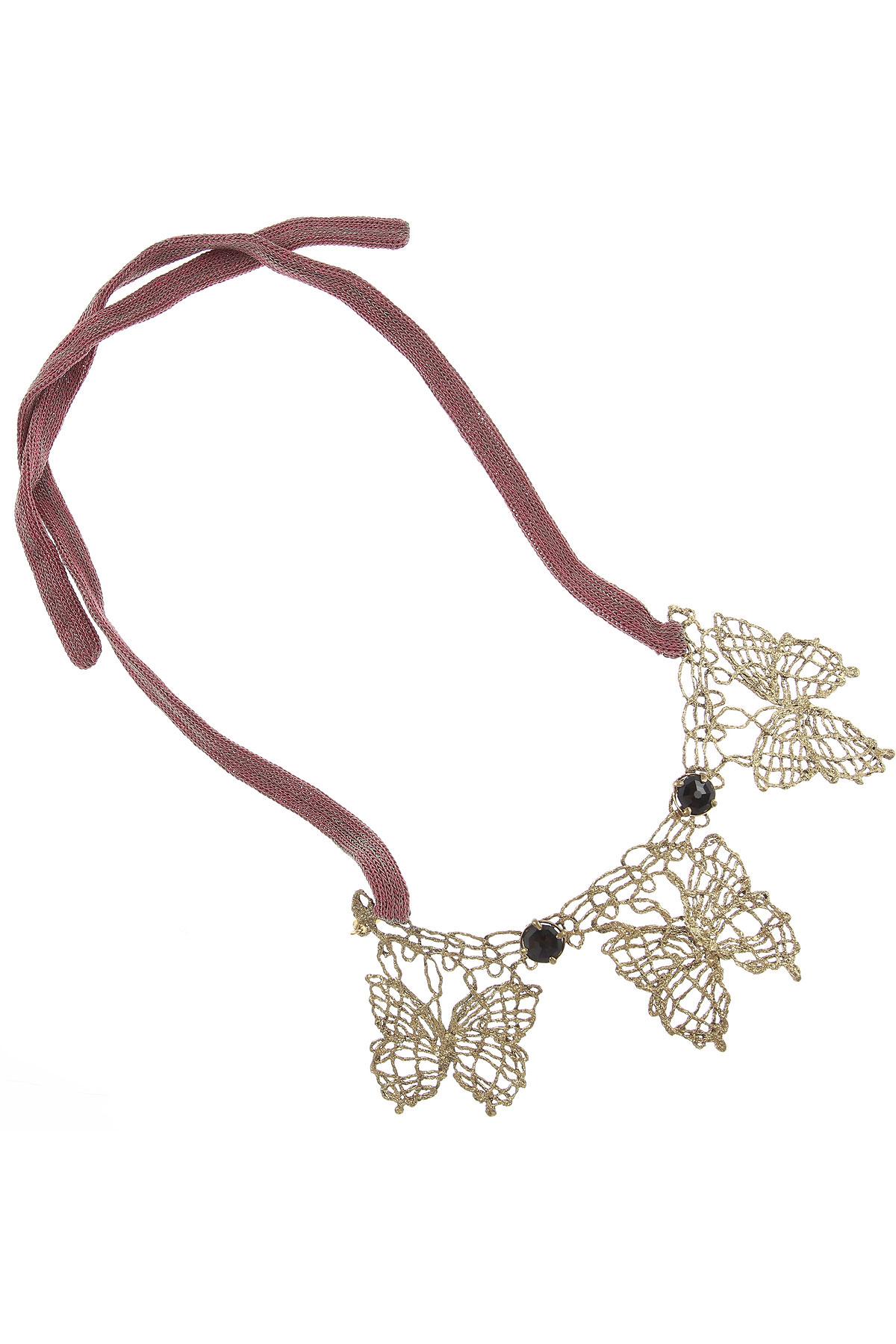 Centopercentocachemire Necklaces On Sale, Bronze, Cotton, 2019