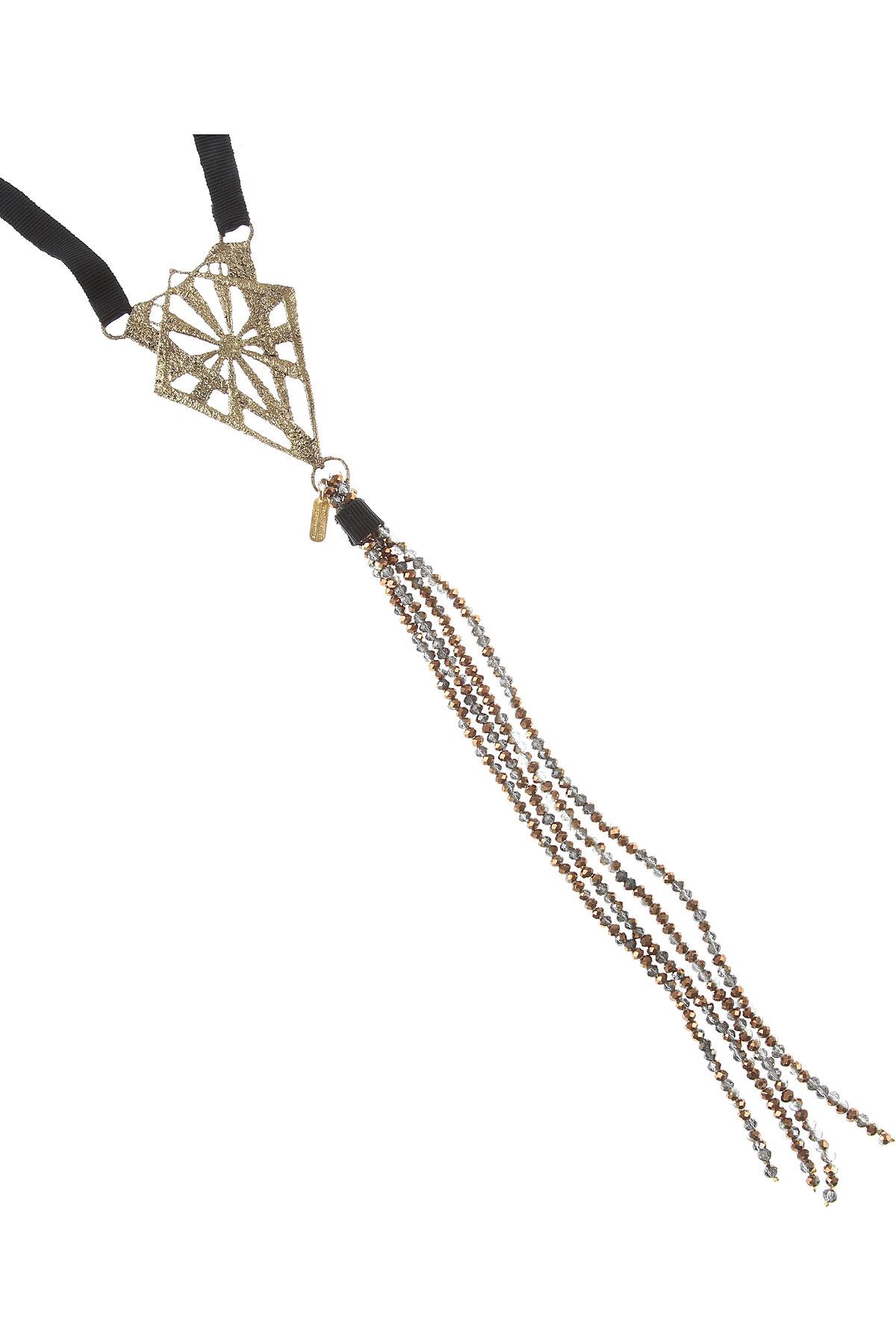 Centopercentocachemire Necklaces On Sale, Black, Cotton, 2019