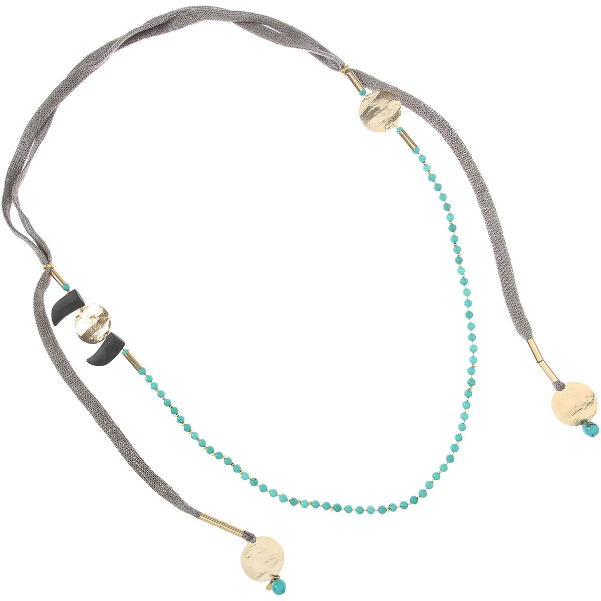 Centopercentocachemire Necklaces On Sale, Grey, Silk, 2019