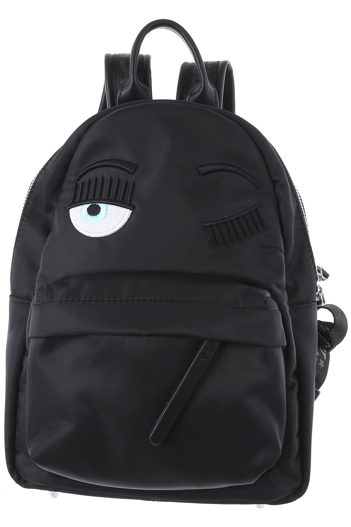 Chiara Ferragni Backpack for Women On Sale, Black, Nylon, 2019