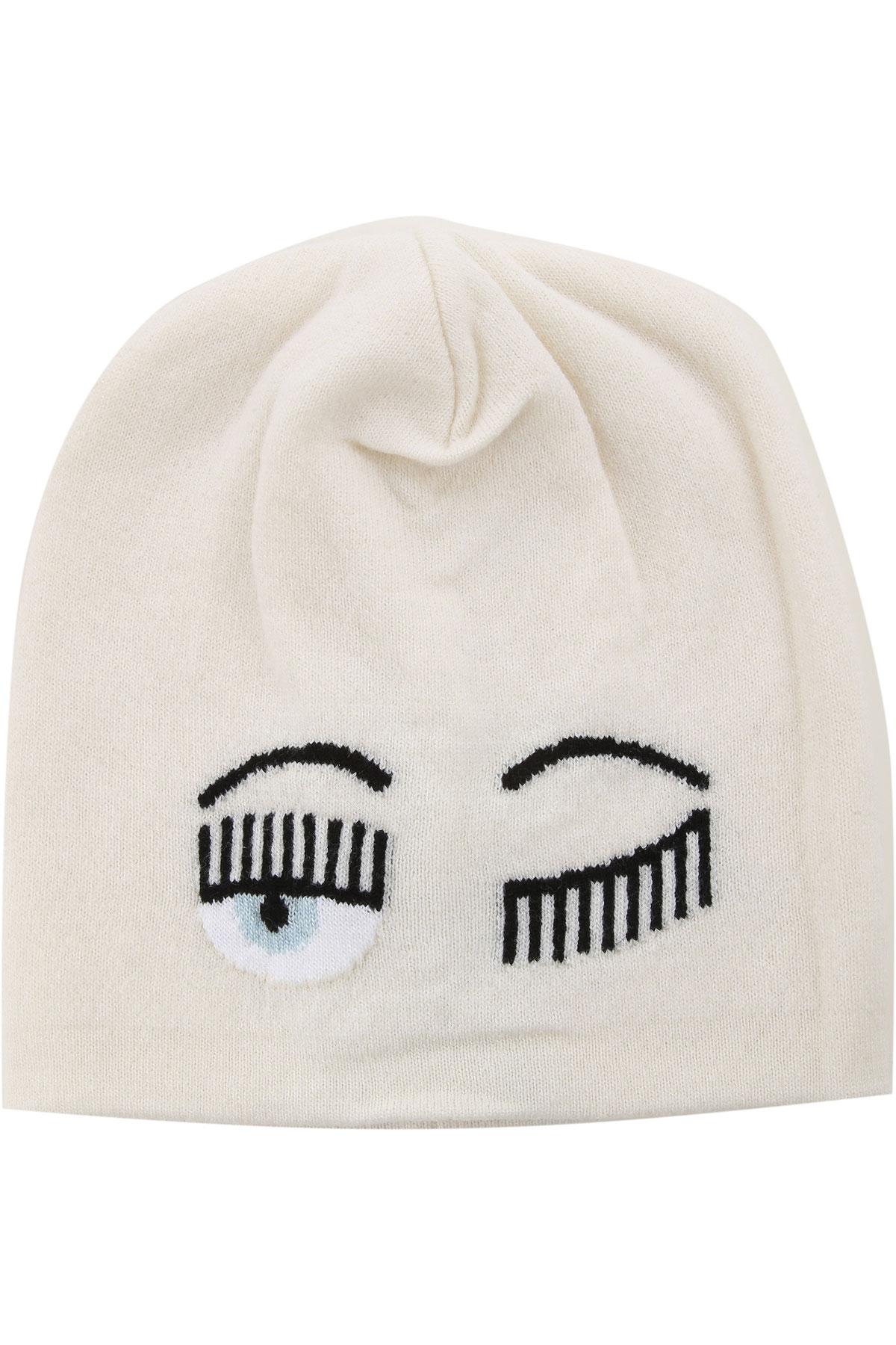 Chiara Ferragni Hat for Women On Sale, White, merino wool, 2019