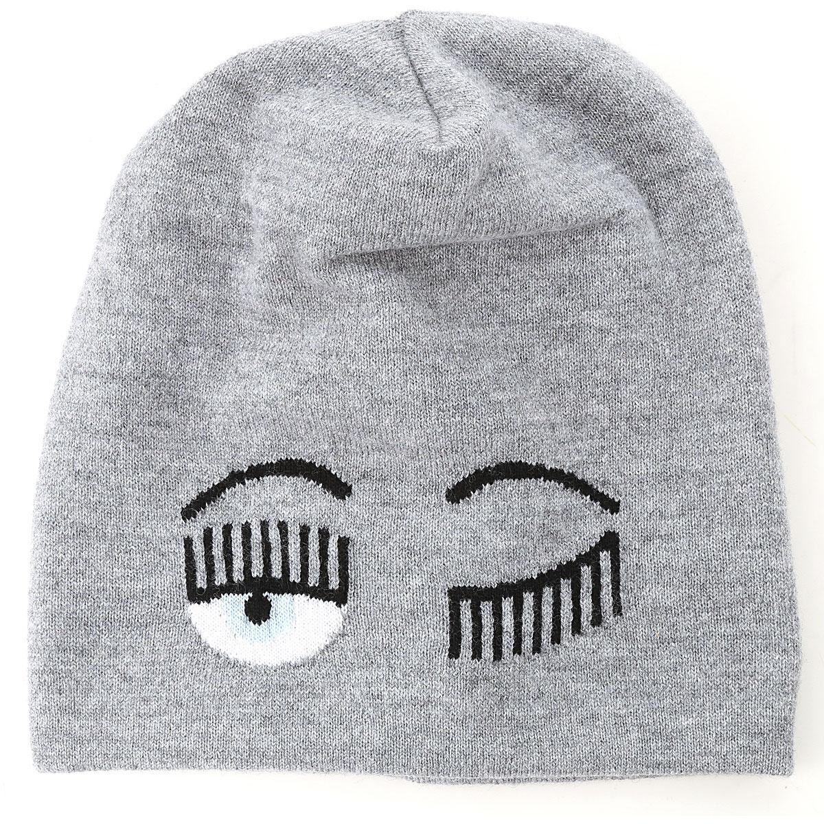 Chiara Ferragni Hat for Women On Sale, Grey Light, merinos, 2019, Universal size Universal size