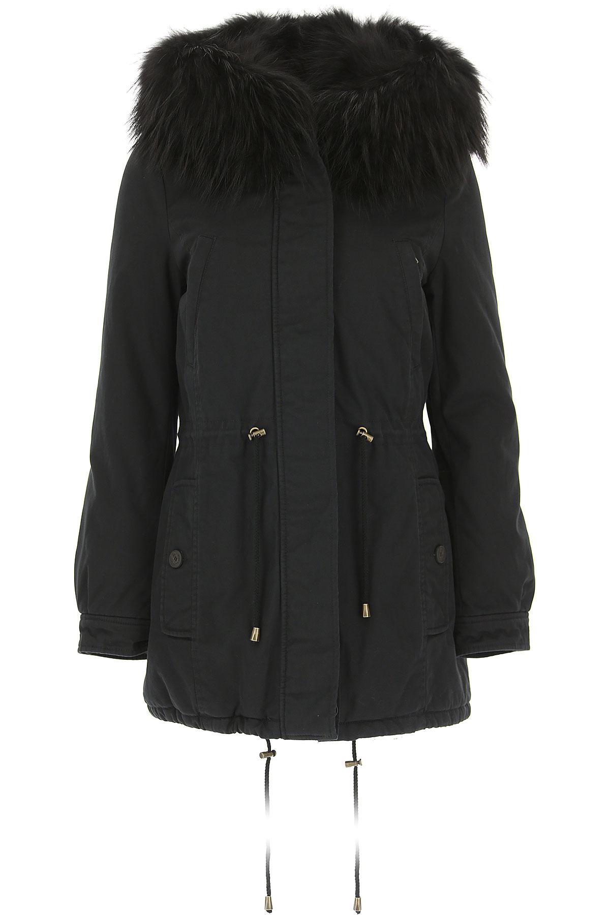 Image of Alessandra Chamonix Women\'s Coat, Black, Cotton, 2017, 4 6 8