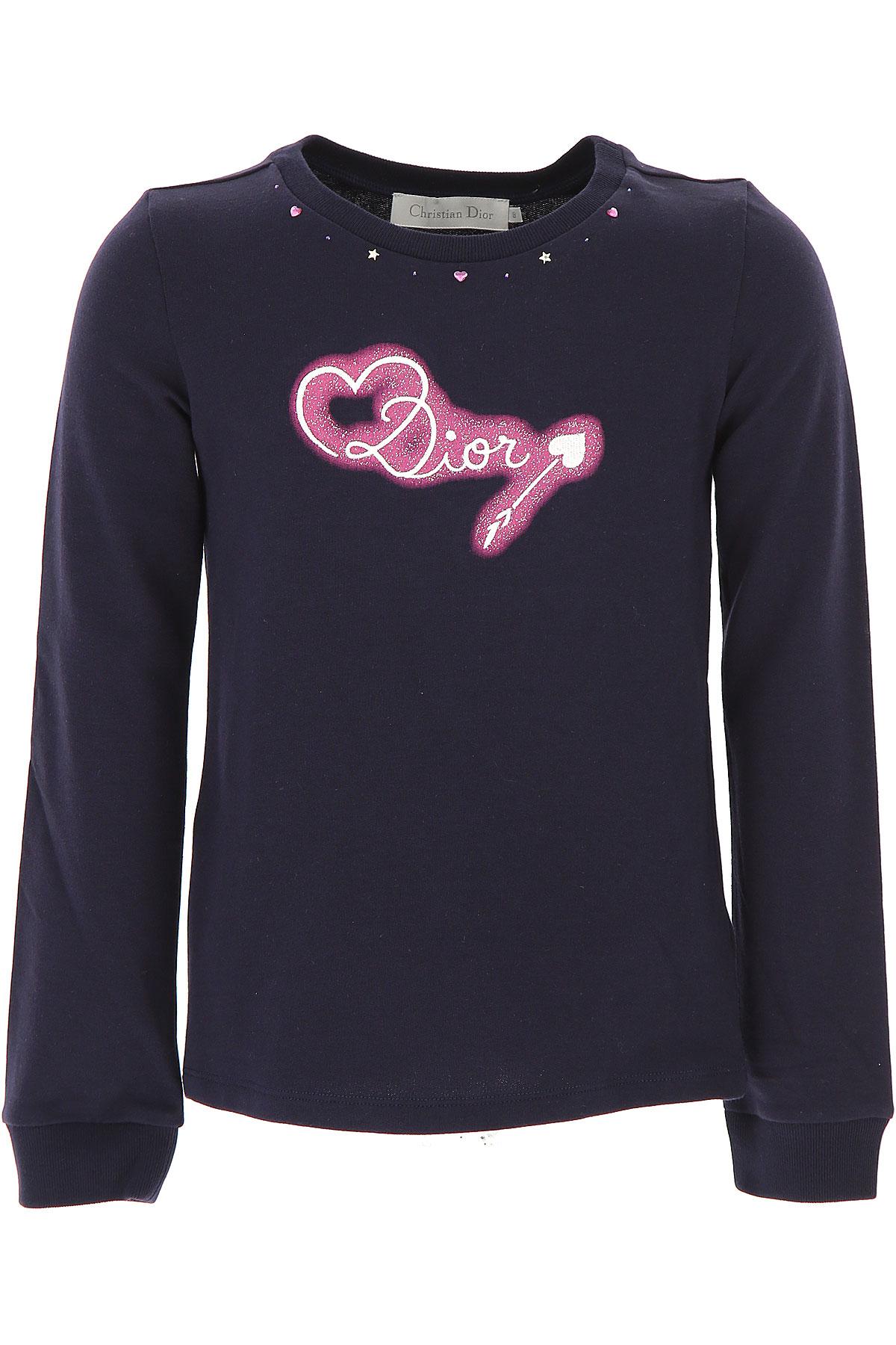 Image of Christian Dior Kids Sweatshirts & Hoodies for Girls, Blue, Cotton, 2017, 10Y 4Y 6Y 8Y