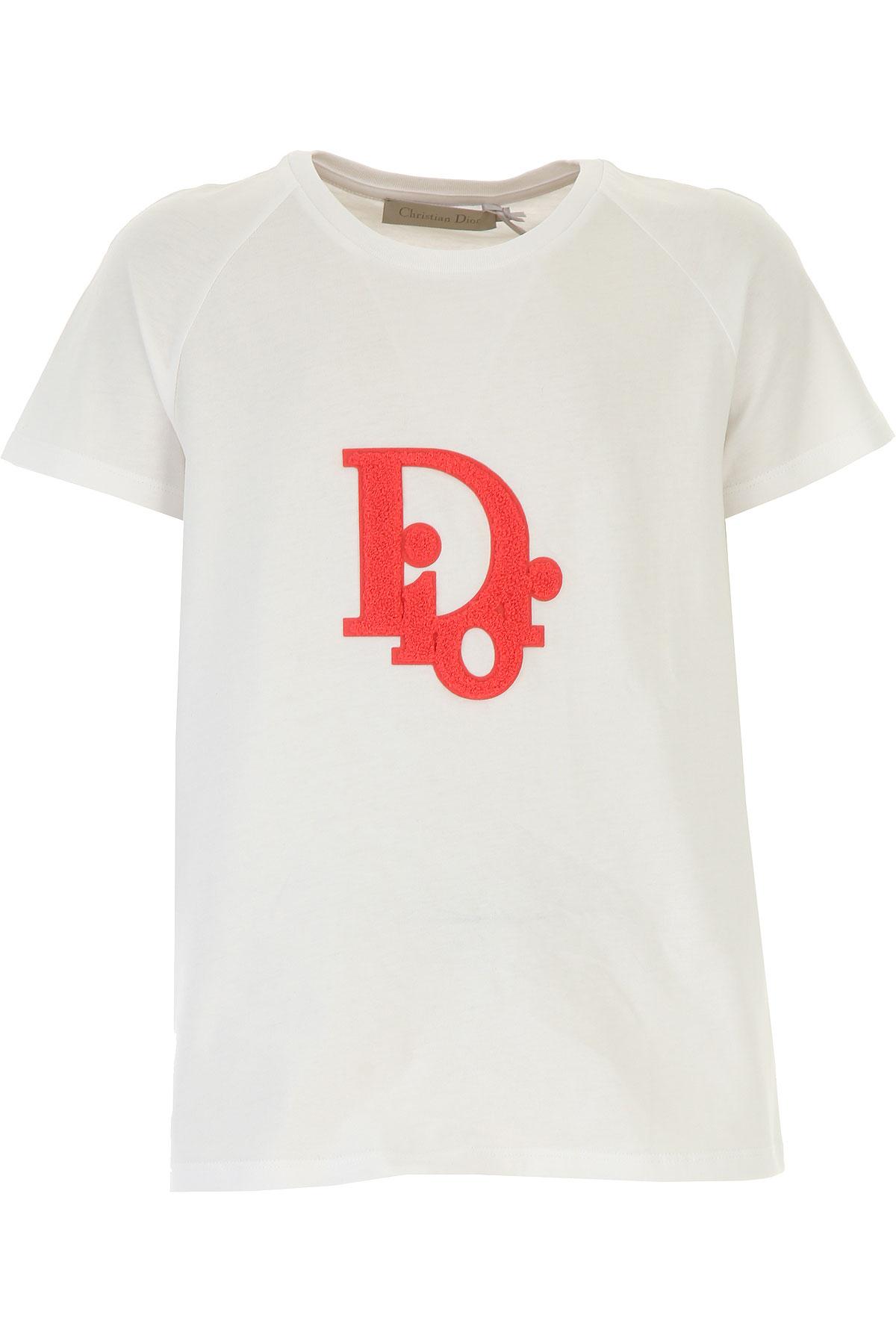 Christian Dior Kids T-Shirt for Girls On Sale, White, Cotton, 2019, 10Y 4Y 6Y 8Y