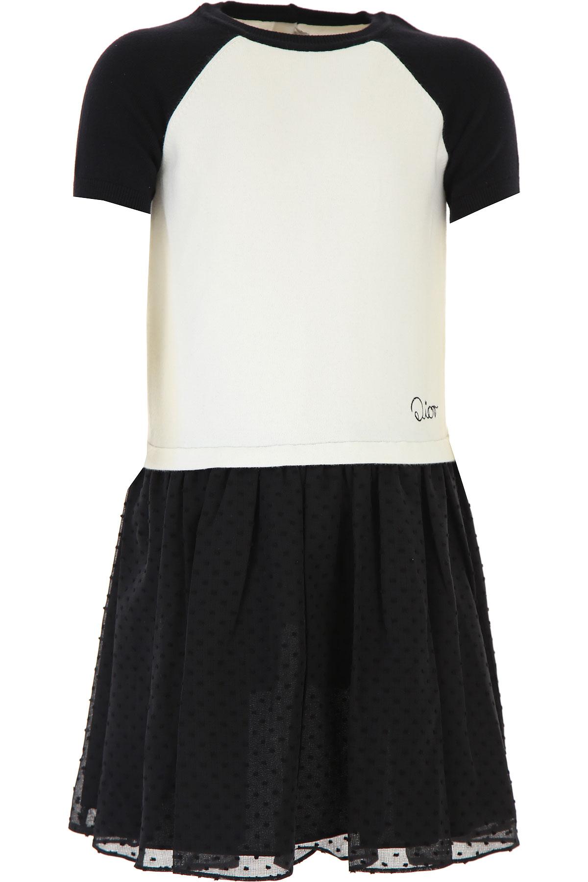 Christian Dior Girls Dress On Sale, White, polyamide, 2019, 10Y 12Y 14Y 8Y