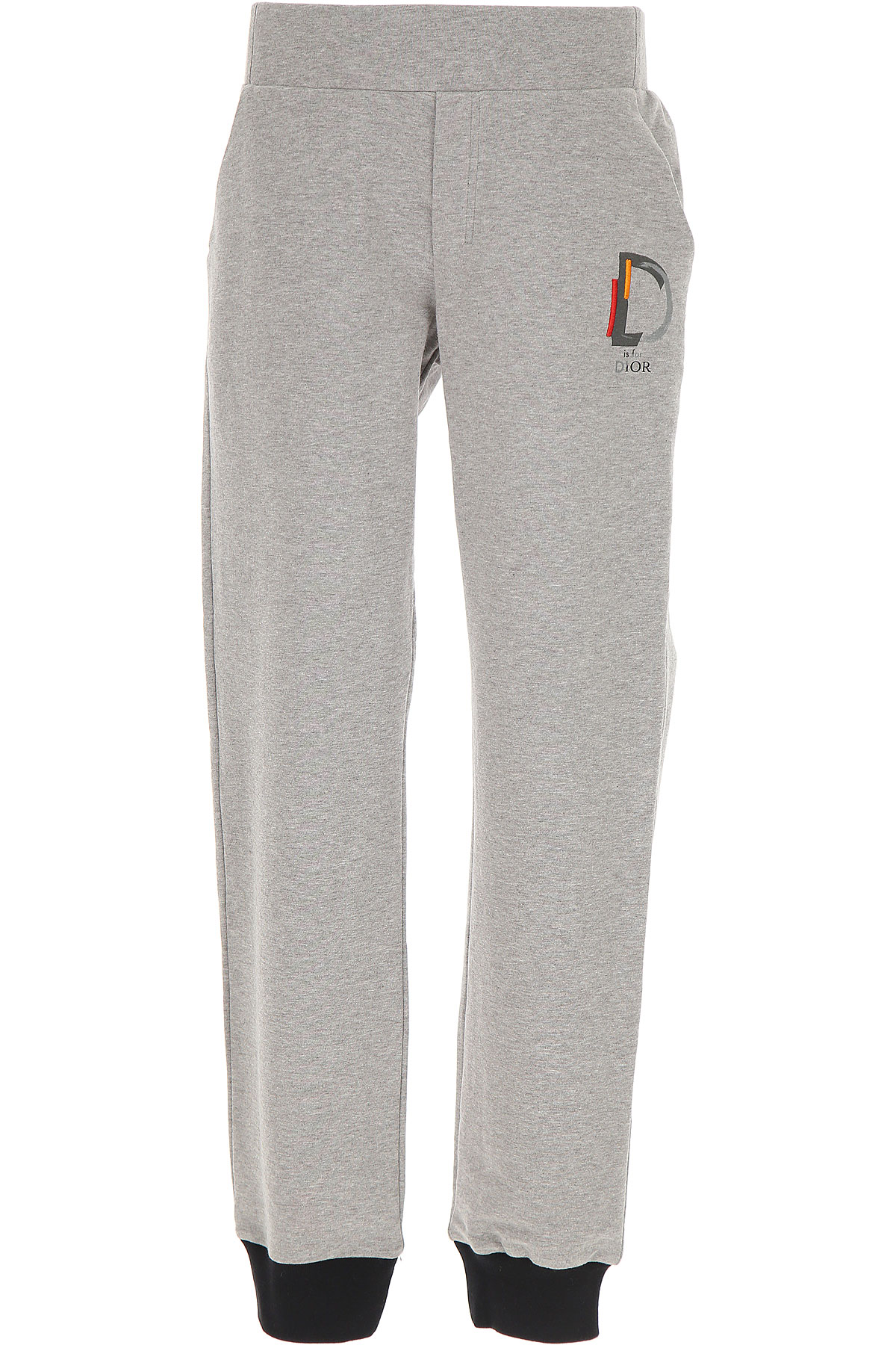 Image of Christian Dior Kids Sweatpants for Boys, Grey, Cotton, 2017, 10Y 14Y 4Y 6Y 8Y