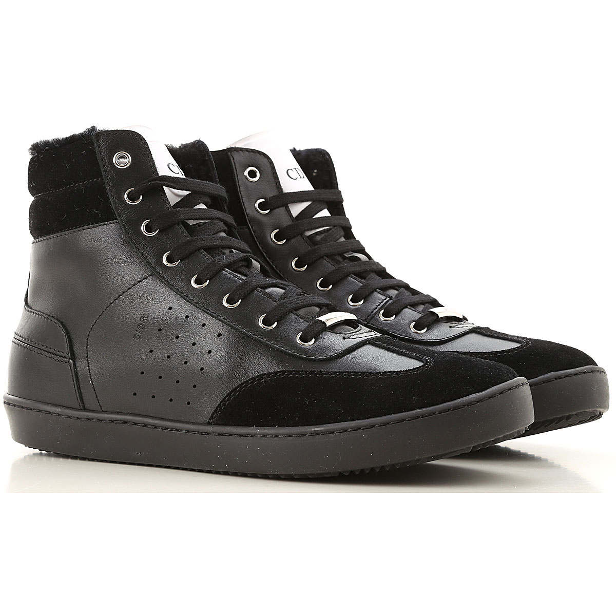 Christian Dior Kids Shoes for Boys On Sale in Outlet, Black, Leather, 2019, 35 37