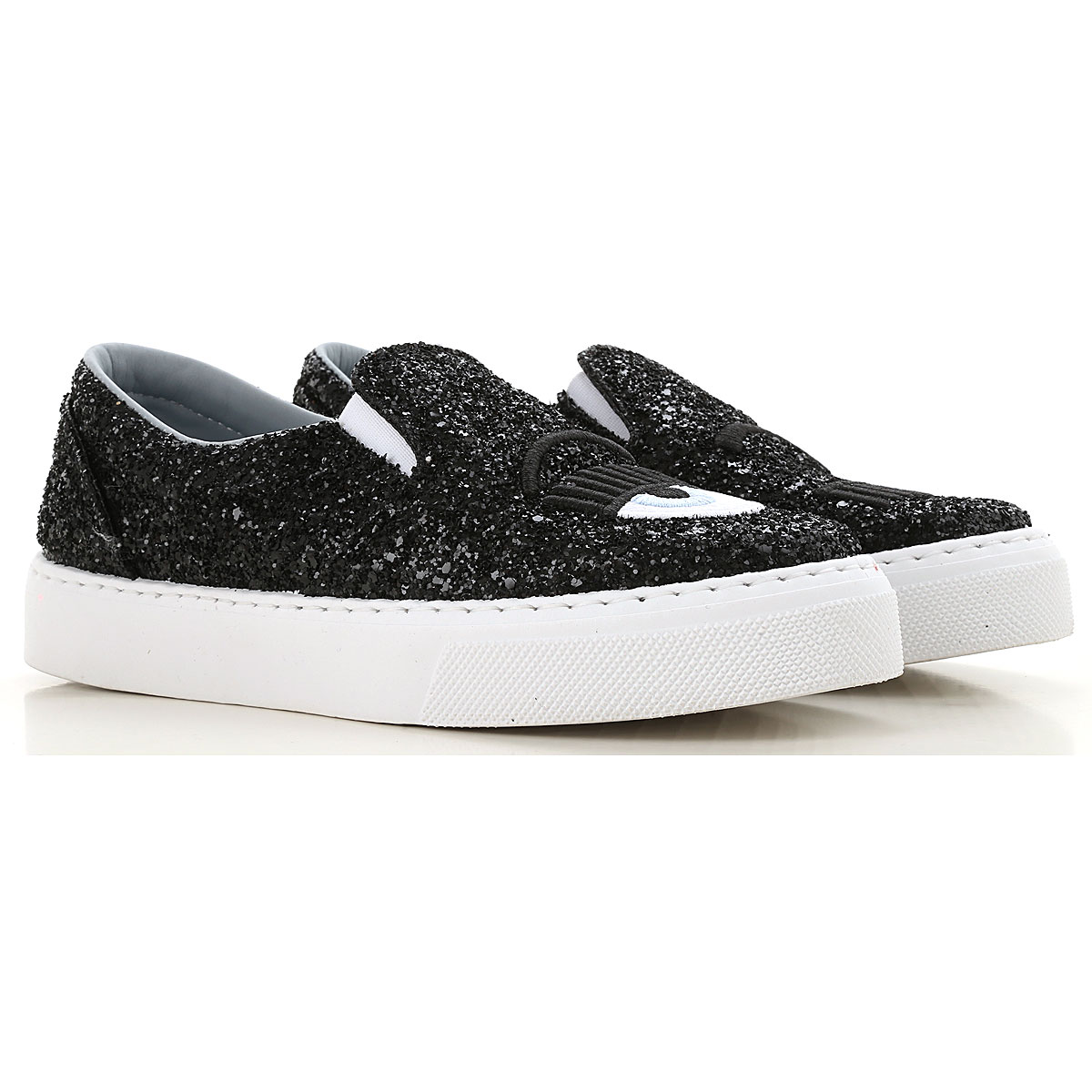Image of Chiara Ferragni Kids Shoes for Girls, Black, Leather, 2017, 28 29 30 31 32 33 34 35 36