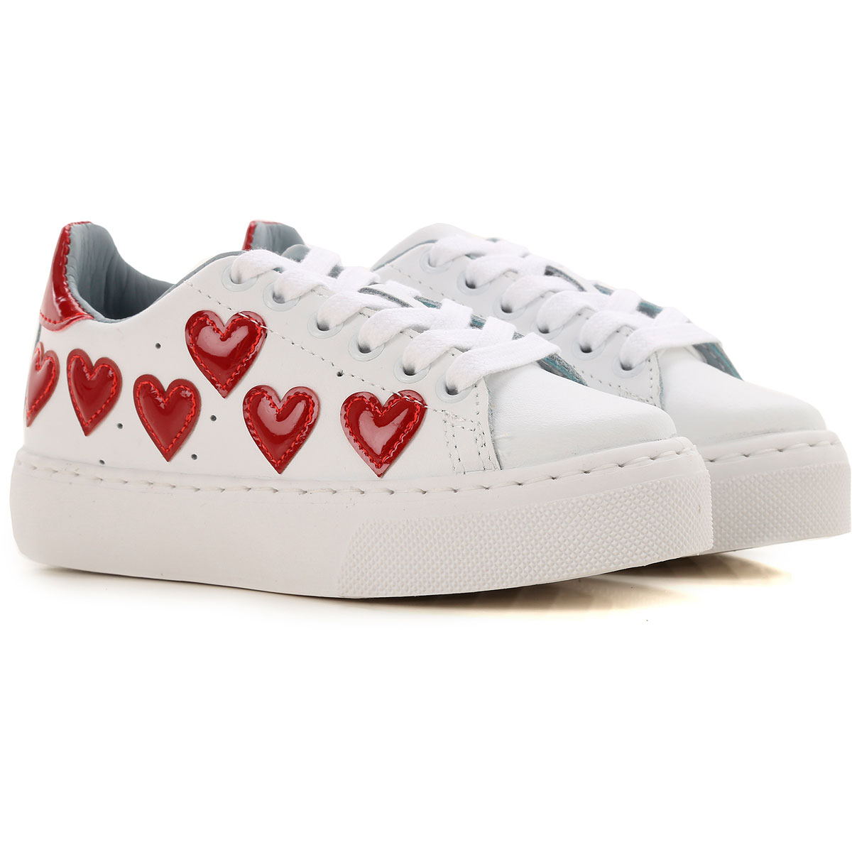 Image of Chiara Ferragni Kids Shoes for Girls, White, Letaher, 2017, 28 29 30 31 32 33 34 35 36