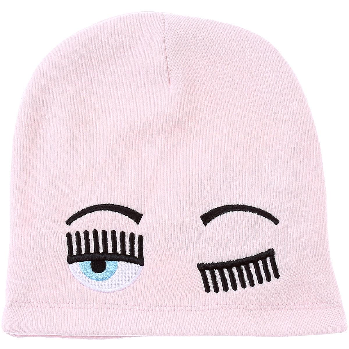 Chiara Ferragni Kids Hats for Girls On Sale, Pink, Cotton, 2019