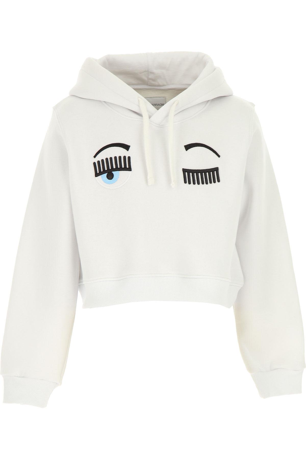 Chiara Ferragni Kids Sweatshirts & Hoodies for Girls On Sale, White, Cotton, 2019, 10Y 12Y 14Y 8Y