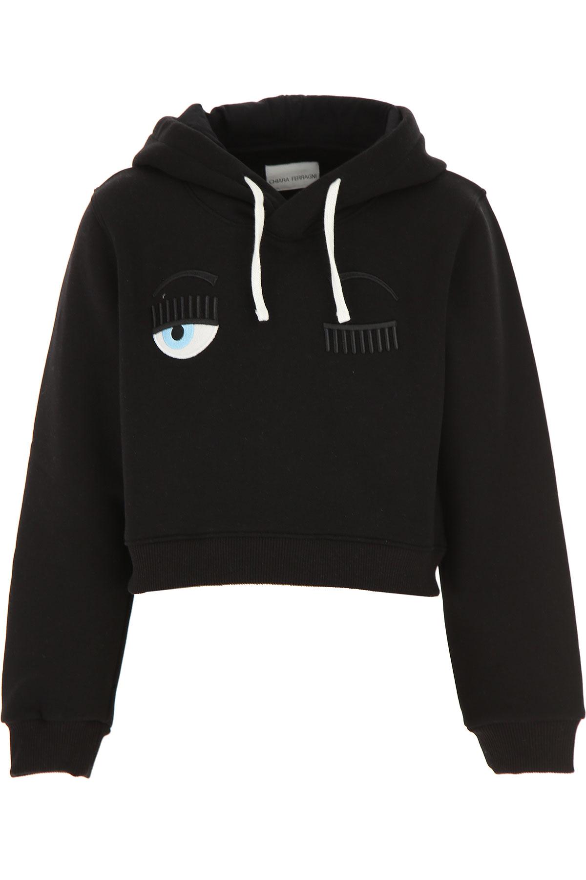 Chiara Ferragni Kids Sweatshirts & Hoodies for Girls On Sale, Black, Cotton, 2019, 10Y 12Y 14Y 8Y