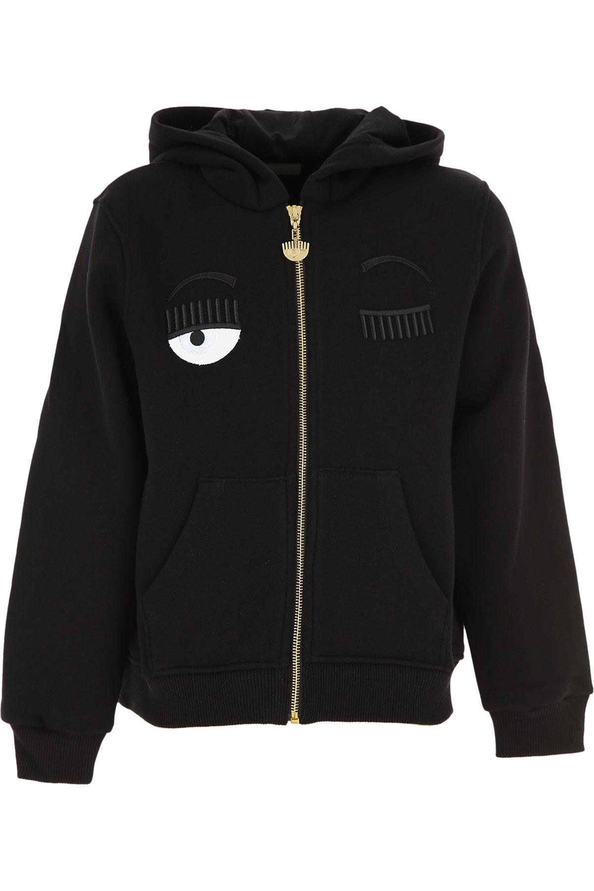Chiara Ferragni Kids Sweatshirts & Hoodies for Girls On Sale, Black, Cotton, 2019, 10Y 14Y 8Y