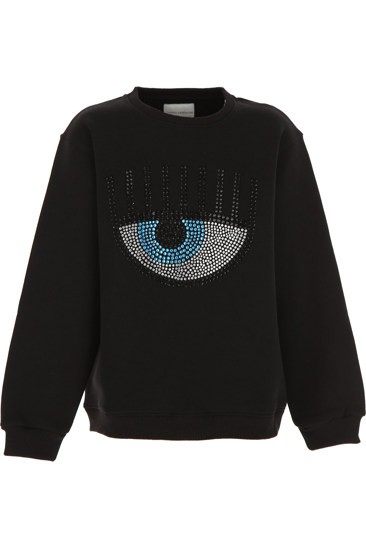 Chiara Ferragni Kids Sweatshirts & Hoodies for Girls On Sale, Black, Cotton, 2019, 10Y 12Y 14Y 6Y 8Y