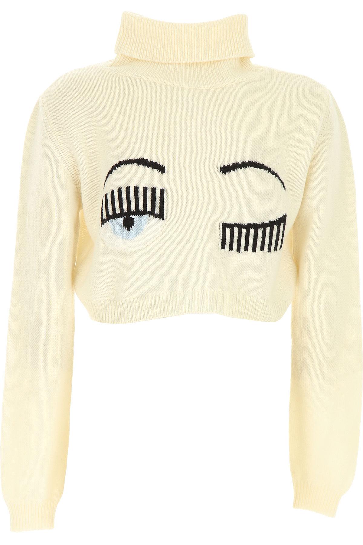Chiara Ferragni Kids Sweaters for Girls On Sale, White, Wool, 2019, 10Y 8Y