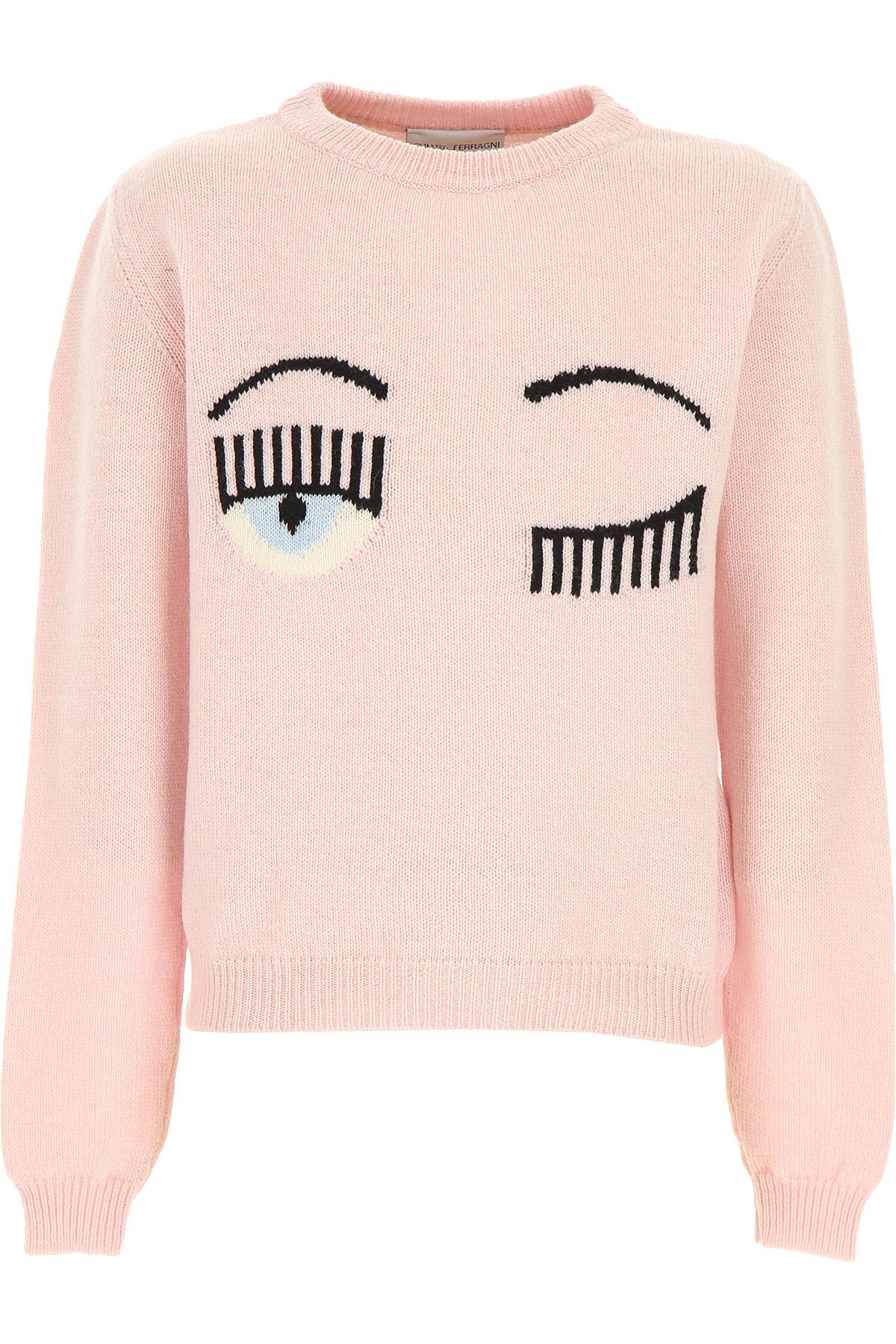Chiara Ferragni Kids Sweaters for Girls On Sale, Pink, Wool, 2019, 10Y 10Y 12Y 12Y 14Y 14Y 4Y 6Y 6Y 8Y 8Y