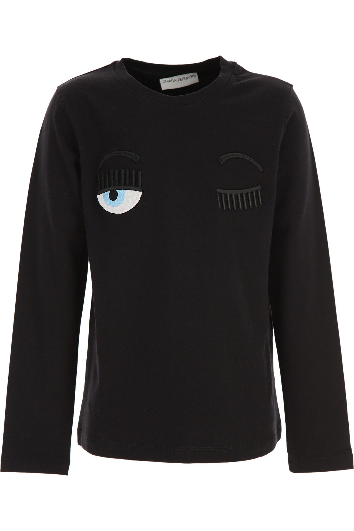 Chiara Ferragni Kids T-Shirt for Girls On Sale, Black, Cotton, 2019, 10Y 12Y 14Y 8Y