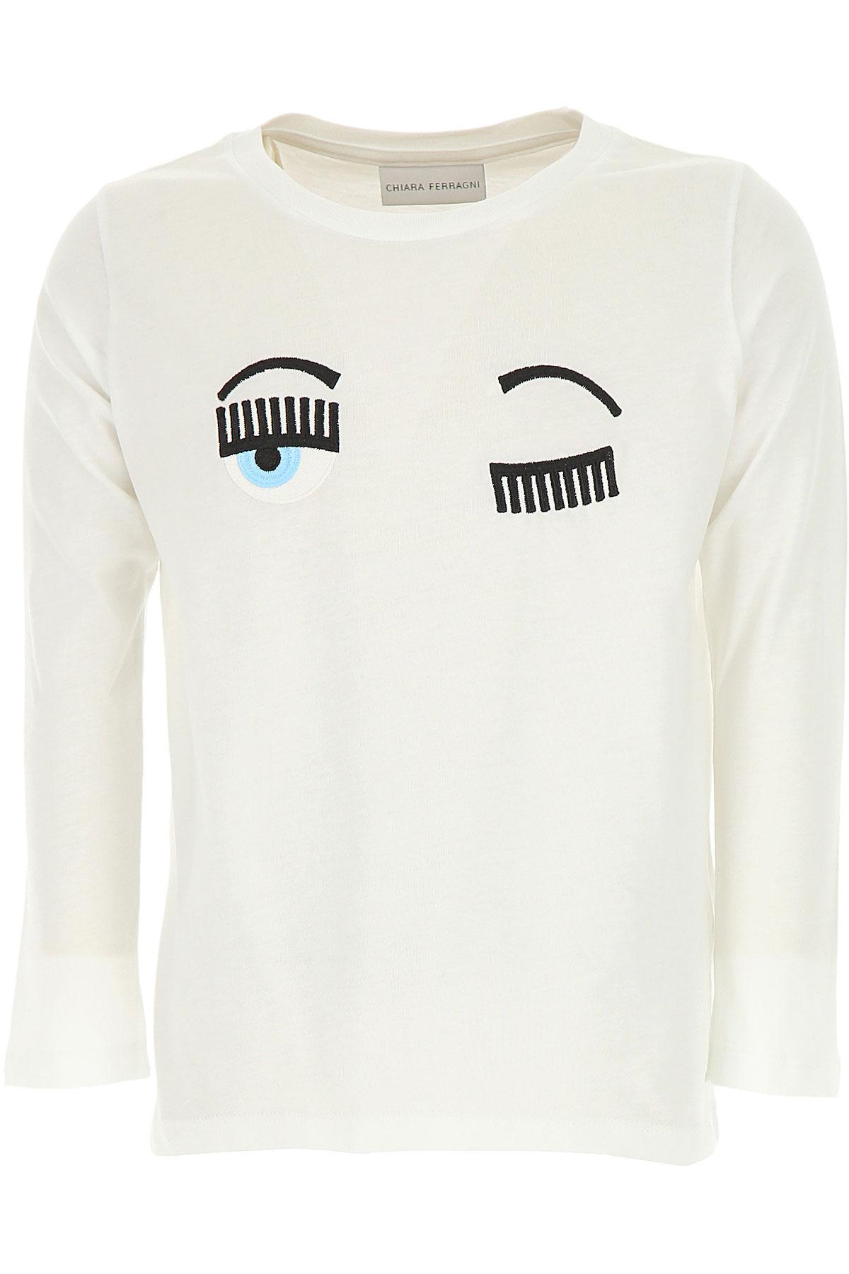 Chiara Ferragni Kids T-Shirt for Girls On Sale, White, Cotton, 2019, 10Y 12Y 14Y 4Y 6Y 8Y