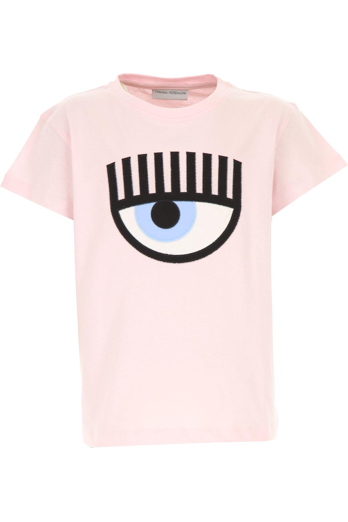 Chiara Ferragni Kids T-Shirt for Girls On Sale, Pink, Cotton, 2019, 10Y 10Y 12Y 12Y 14Y 14Y 6Y 8Y