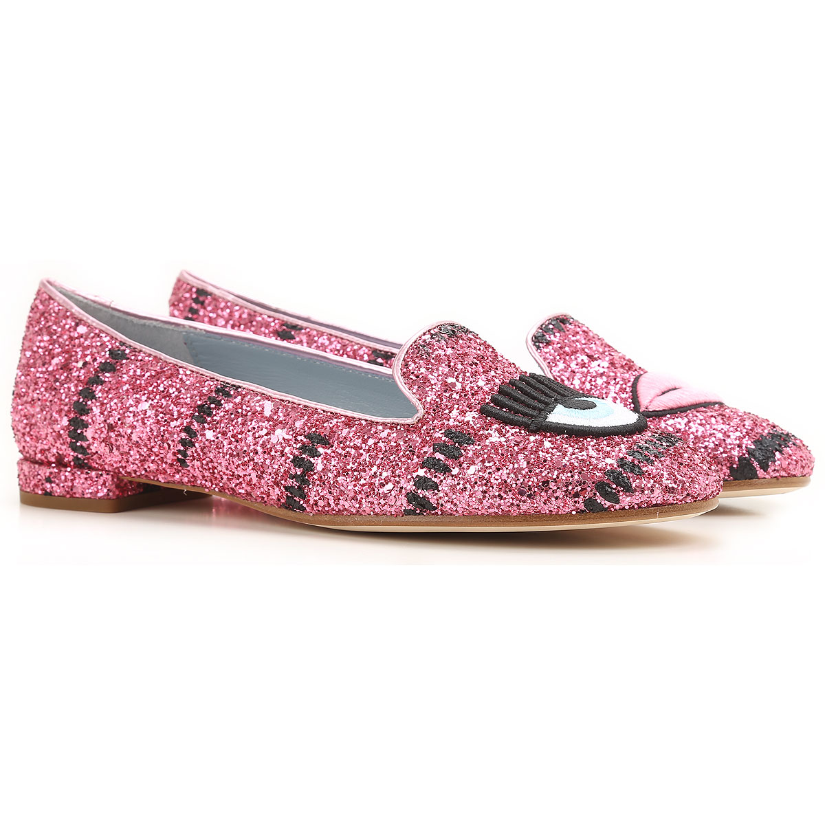 Image of Chiara Ferragni Ballet Flats Ballerina Shoes for Women On Sale in Outlet, fuxia, Leather, 2017, 5 6 8