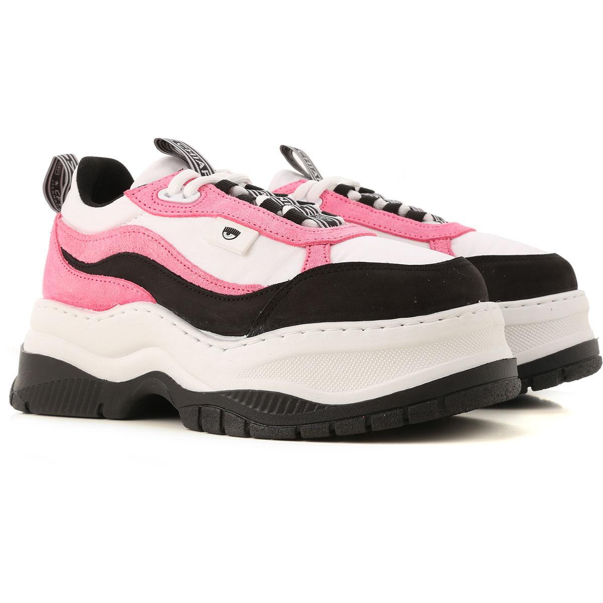 Chiara Ferragni Sneakers for Women On Sale, White, Leather, 2019, 10 11 6 9