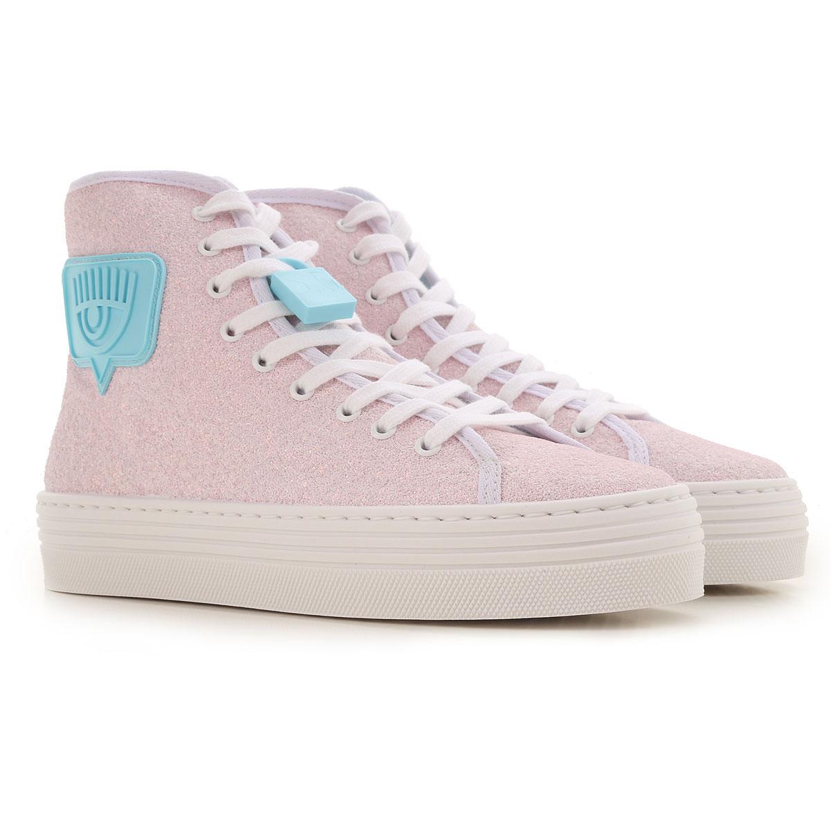 Chiara Ferragni Sneakers for Women On Sale, Glitter Pink, Polietilenicat, 2019, 10 5 6 7 8 9