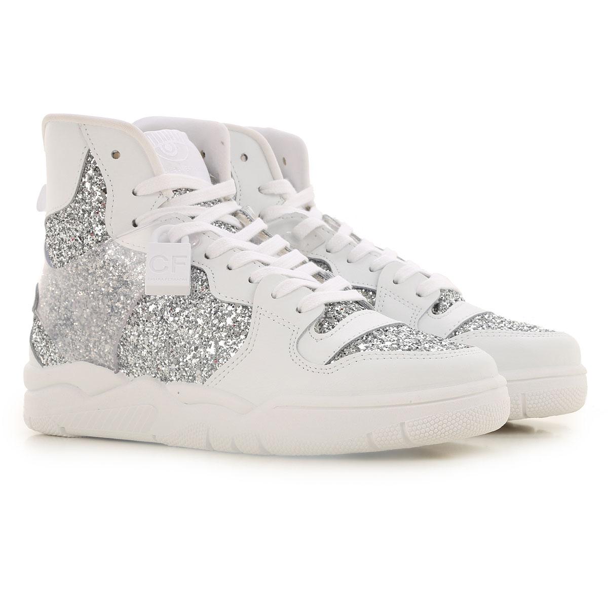 Chiara Ferragni Sneakers for Women On Sale, White, Leather, 2019, 10 11 5 6 7 8 9