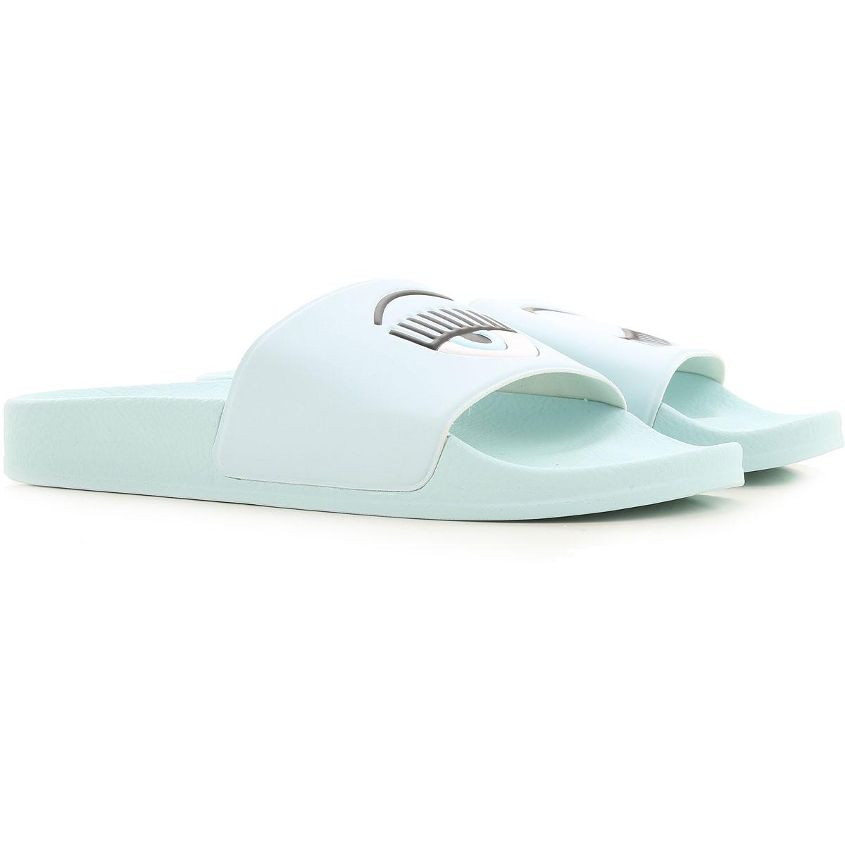 Chiara Ferragni Sandals for Women On Sale, Sky, Eco Leather, 2019, 11 6 9