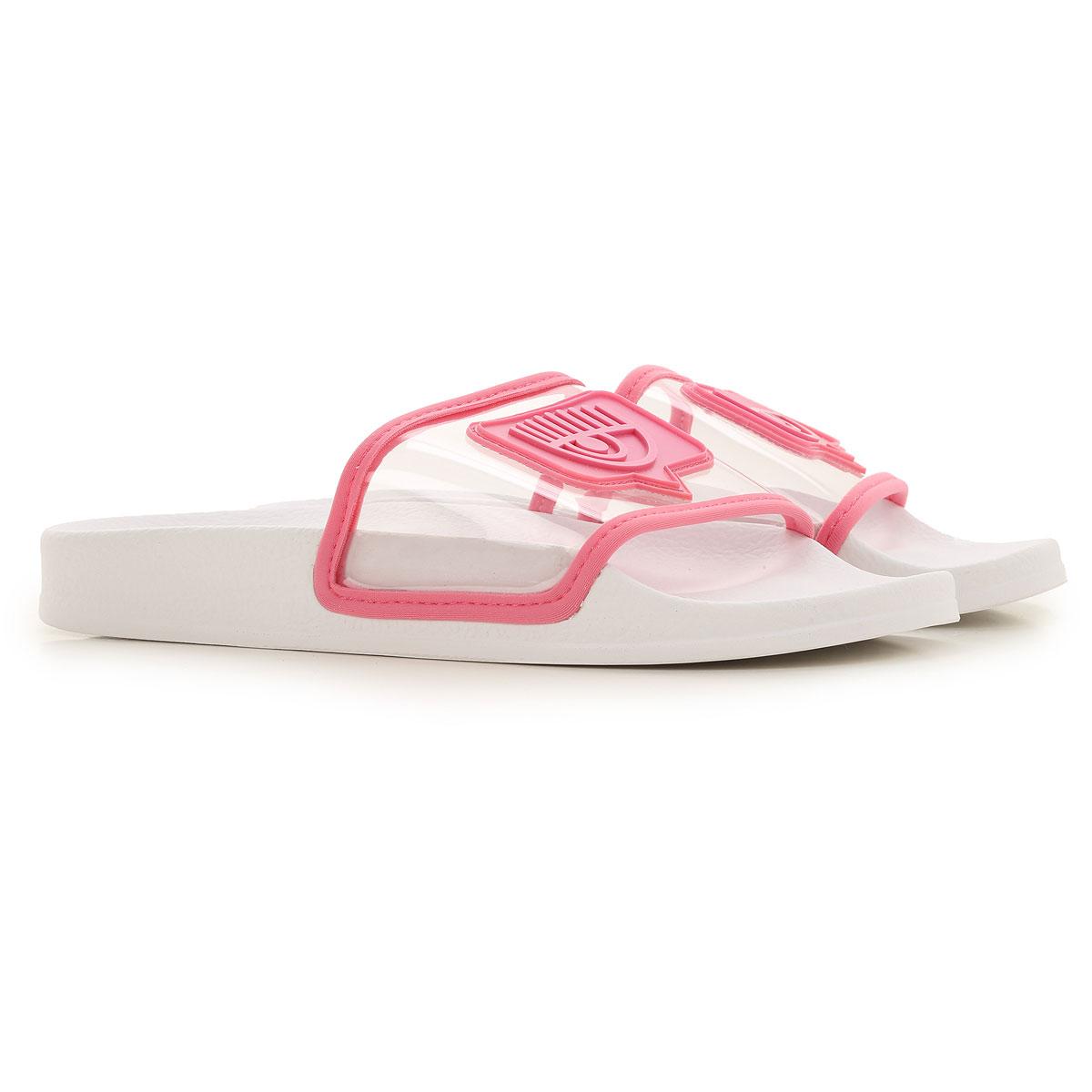 Chiara Ferragni Sandals for Women On Sale, White, Rubber, 2019, 10 11 6